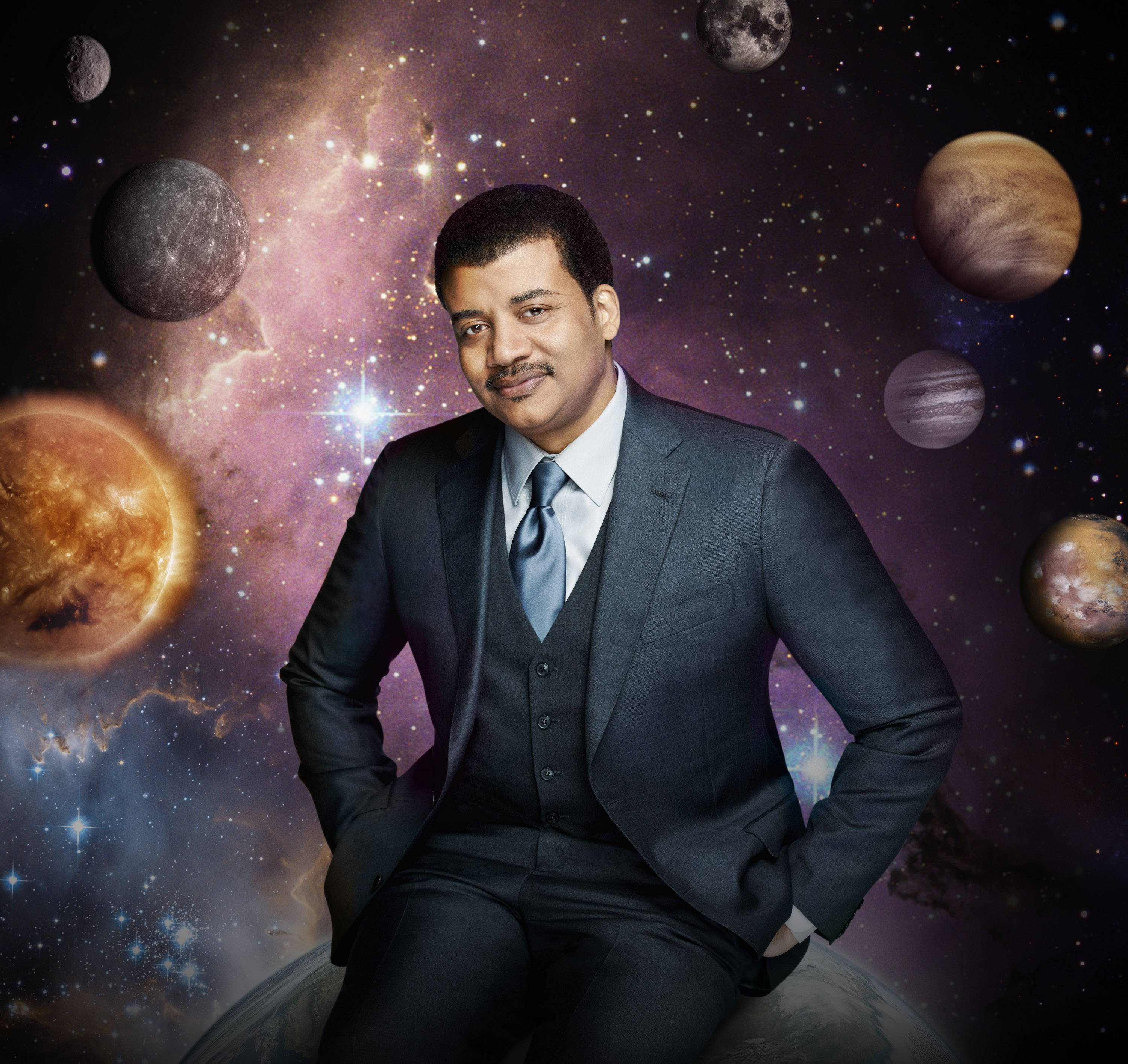 """Astrophysicist Neil deGrasse Tyson hosts the television show, """"Cosmos: A Spacetime Odyssey,"""" premiering Sunday."""