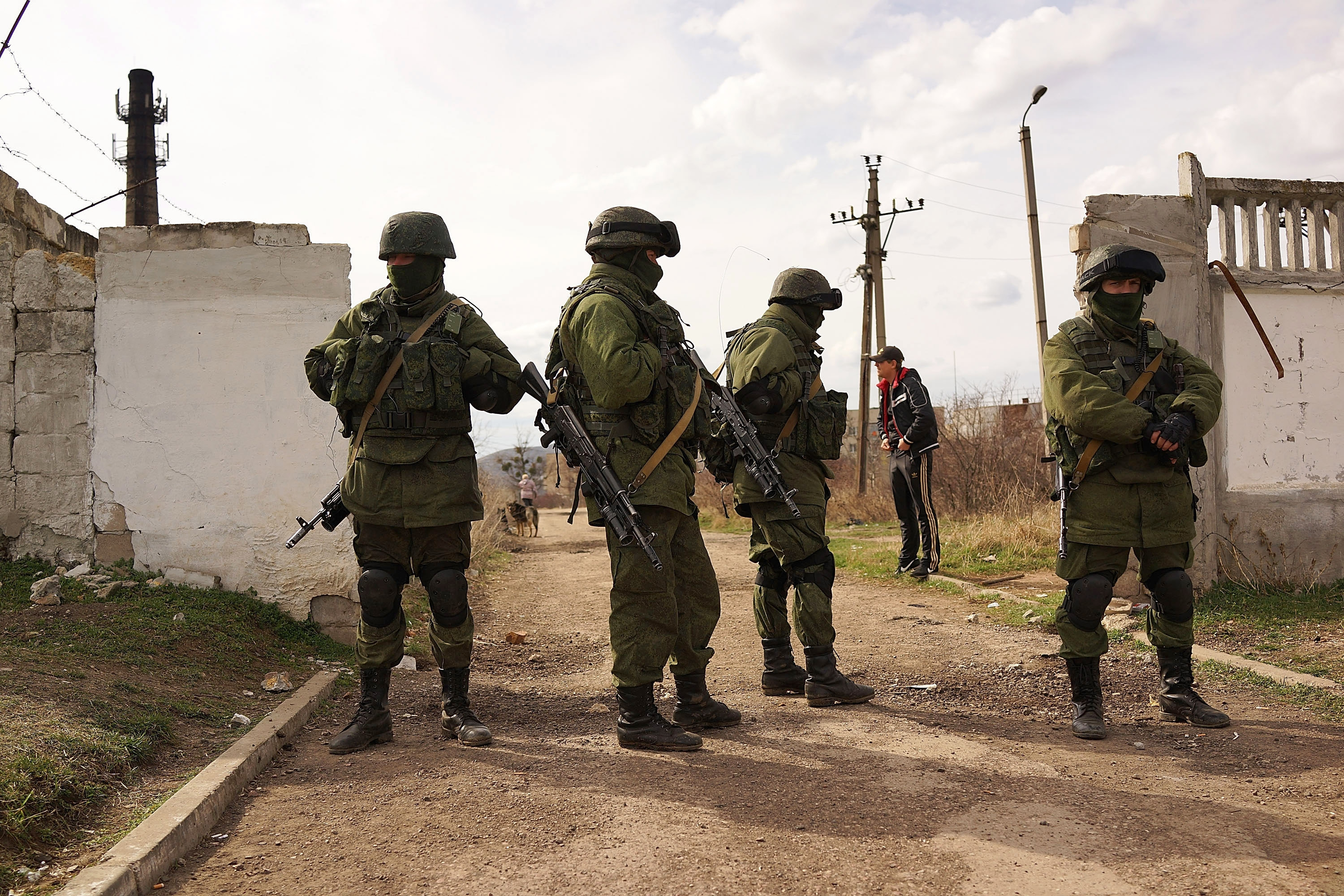 Russia sent troops to take over Crimea in preparation for a sham referendum on the fate of the region. (Getty Images)