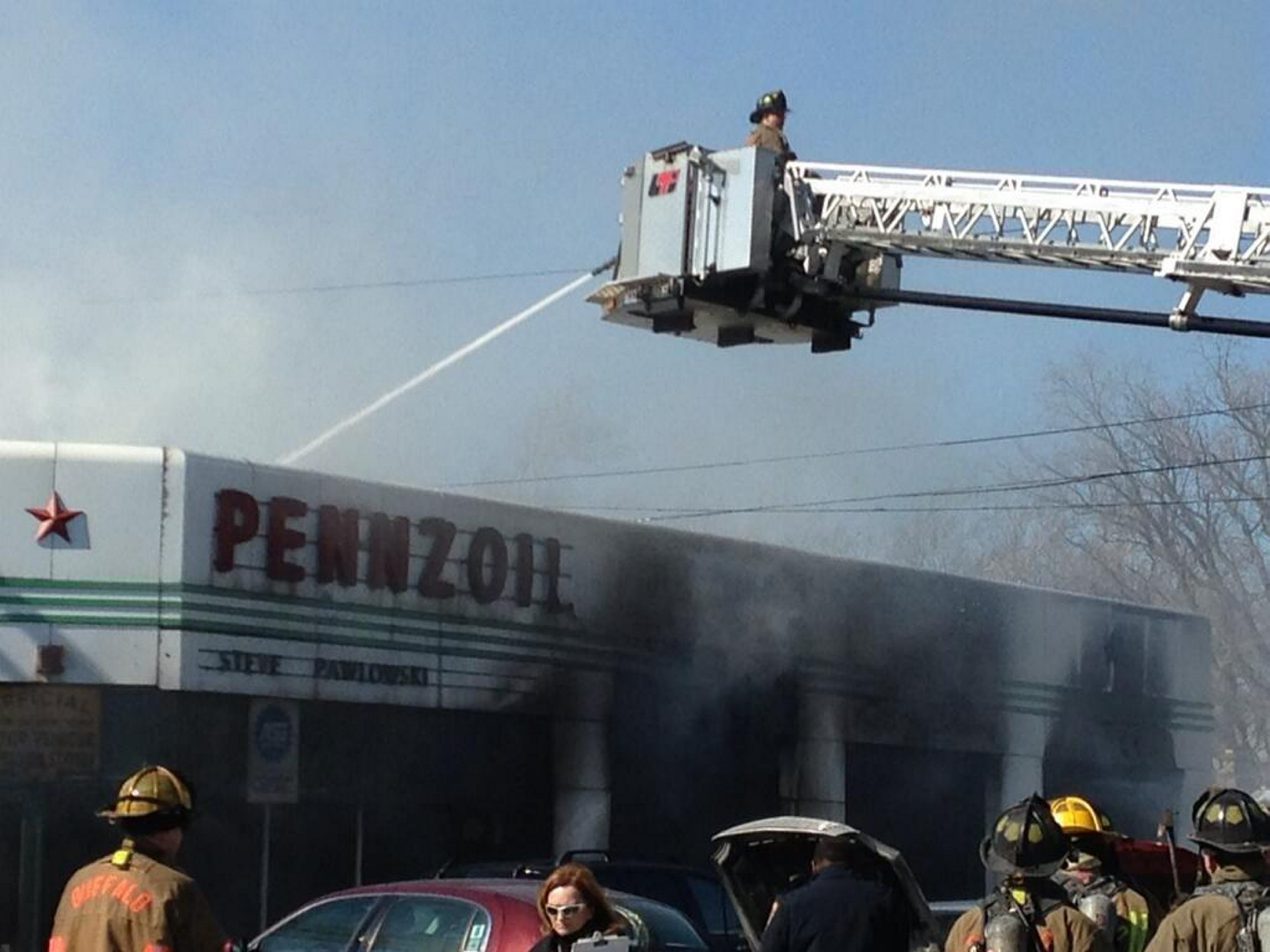 The scene at Genesee Street and East End in Buffalo this afternoon. See a photo gallery at BuffaloNews.com.