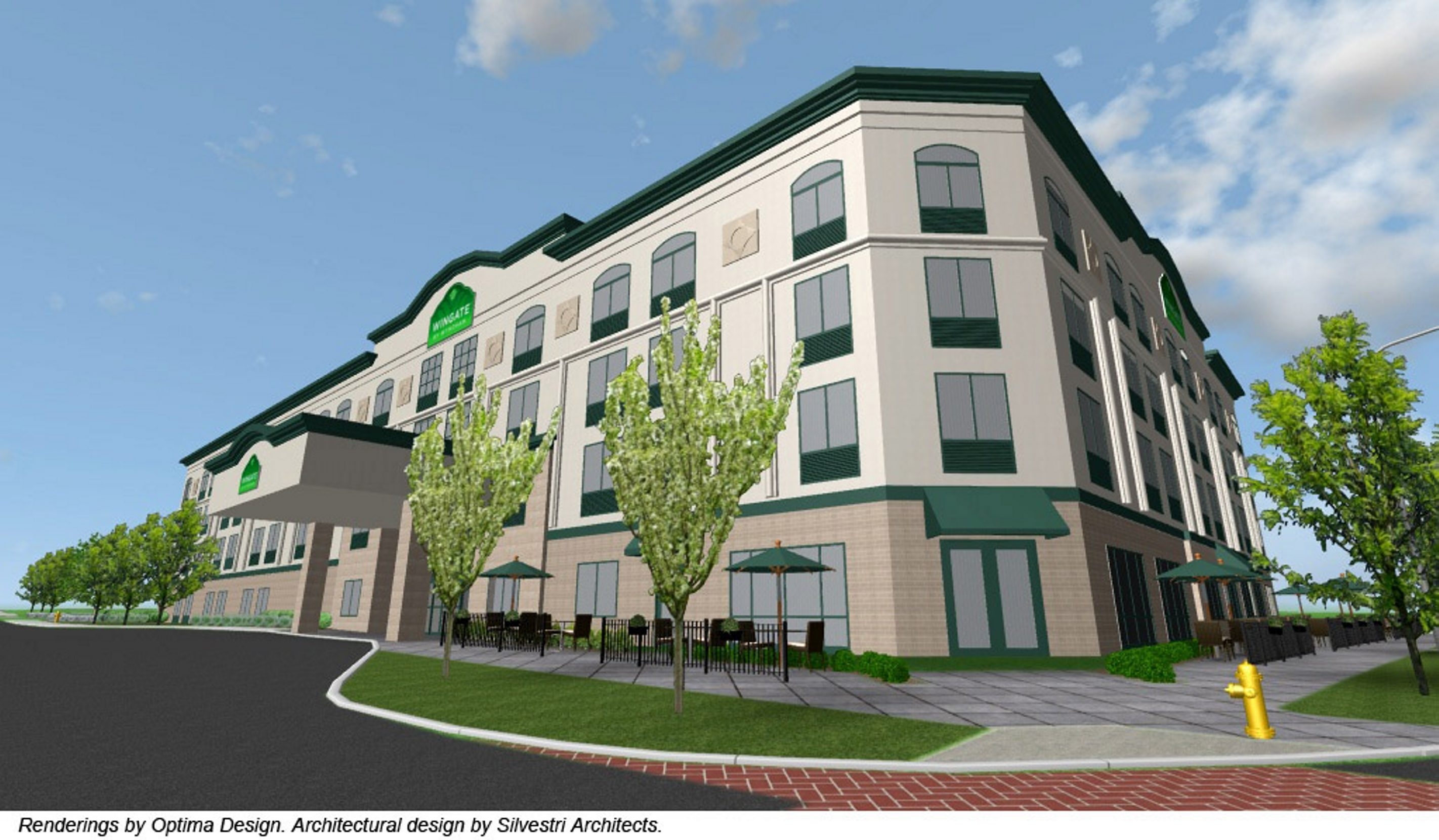 An architect's drawing of the $10.2 million Wingate by Wyndham at Fourth Street and Rainbow Boulevard.