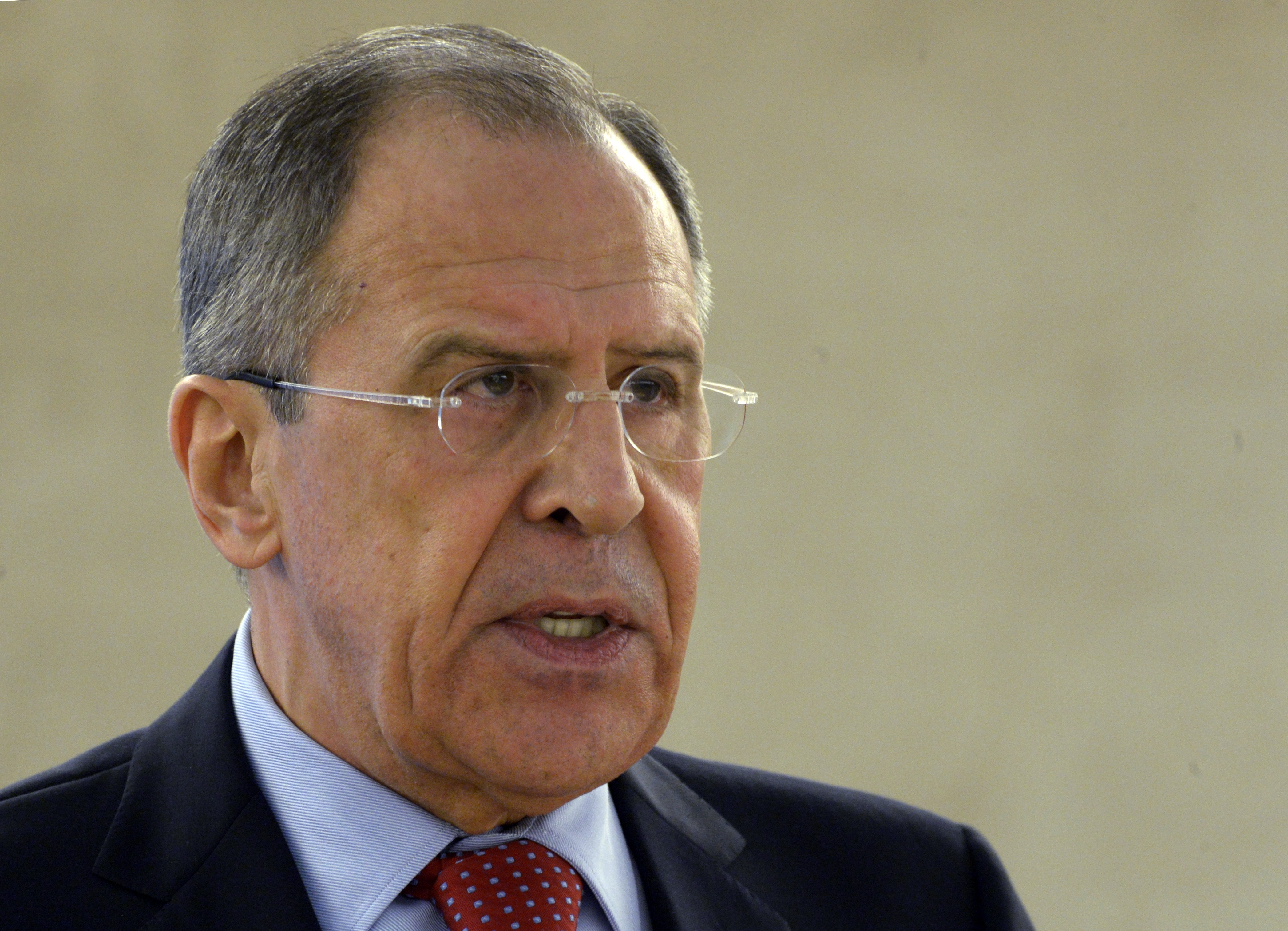 Russian Foreign Minister Sergei Lavrov says Russia is only protecting its interests on the Crimean peninsula.