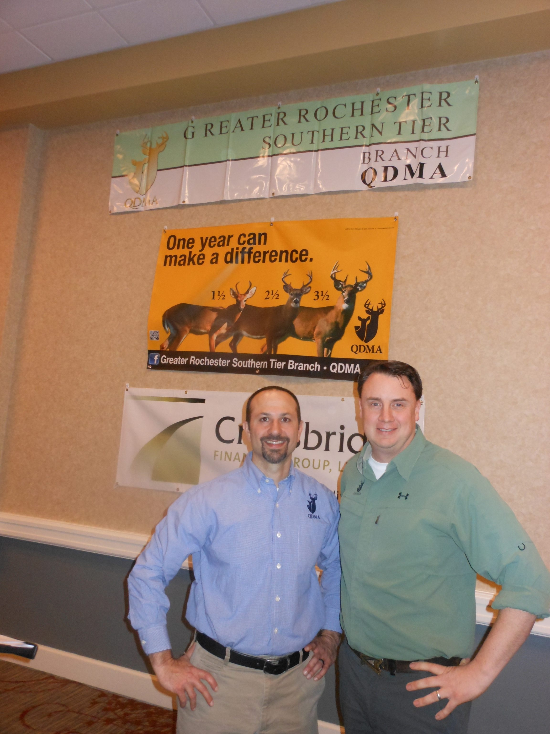 Whitetail deer experts Matt Ross and Neil Dougherty shared insights on deer dynamics during a winter lecture seminar series in Rochester.