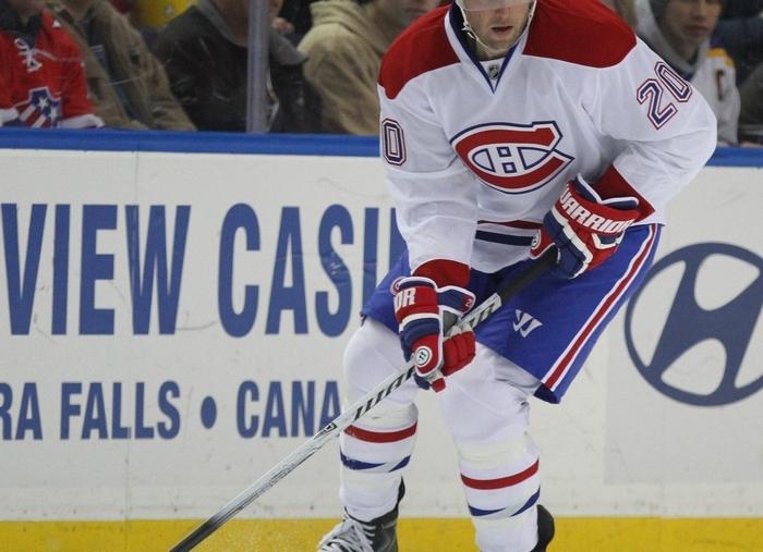 Montreal's Thomas Vanek received a warm reception. (Mark Mulville/Buffalo News)