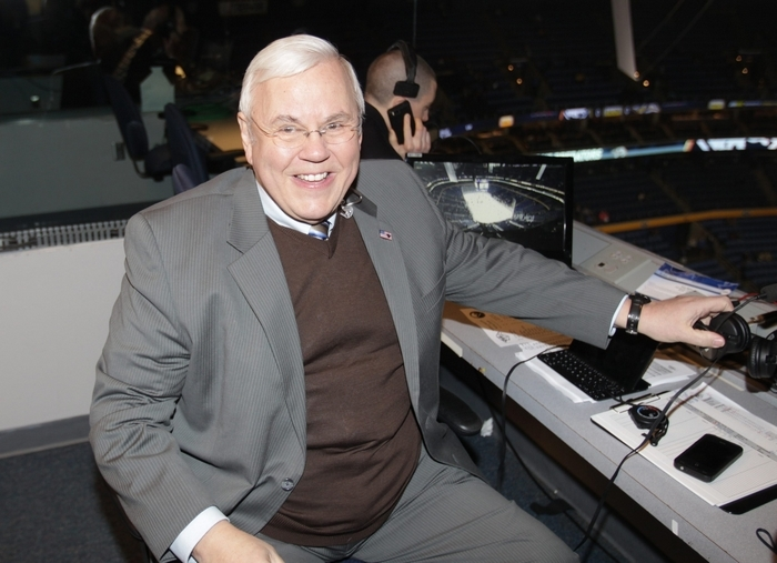 Former Bisons and Sabres play-by-play announcer Pete Weber, now the voice of the Predators, said he really didn't comprehend that he was having a heart attack on Feb. 6. (James P. McCoy/ Buffalo News)