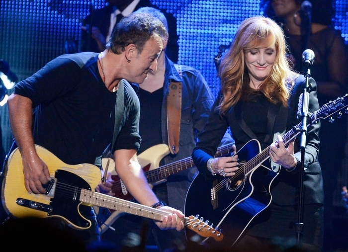 "Bruce Springsteen and Patti Scialfa perform a giddy ""Linda Paloma"" on a new Jackson Browne tribute album. (Getty Images)"