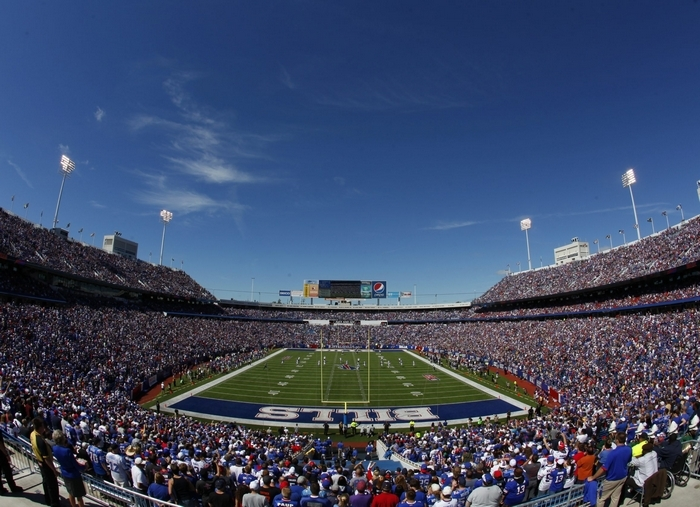 The Buffalo Bills franchise, which usually fills Ralph Wilson Stadium on Sundays, is likely worth approximately $800 million. (Harry Scull Jr./Buffalo News file photo)