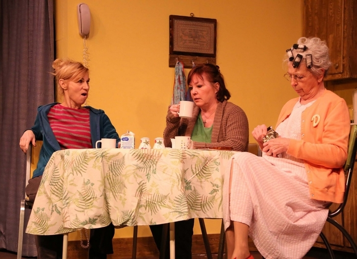 """Lisa Ludwig, left, Eileen Dugan and Anne Gayley star the Kavinoky Theatre's """"Good People."""""""