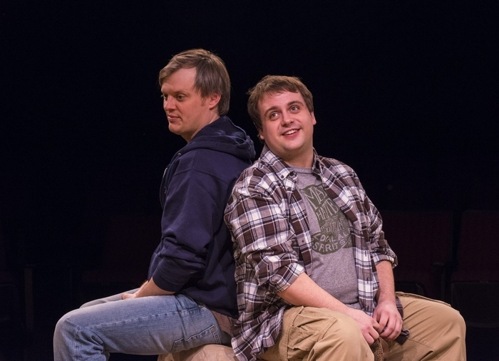 """Christopher Evans and Kevin Craig star in the Irish Classical Theatre Company's production of """"Stones in His Pockets."""""""
