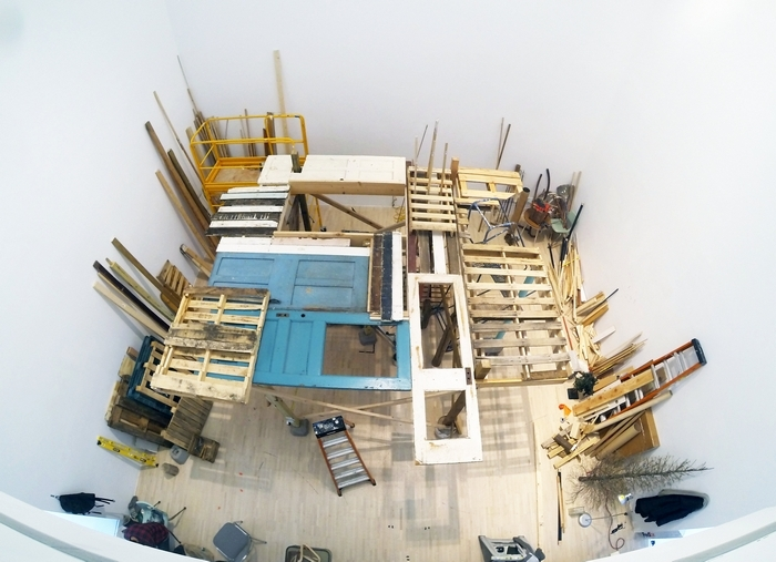 A sculptural installation by artist Janelle Iglesias is currently under construction in the University at Buffalo Art Gallery.
