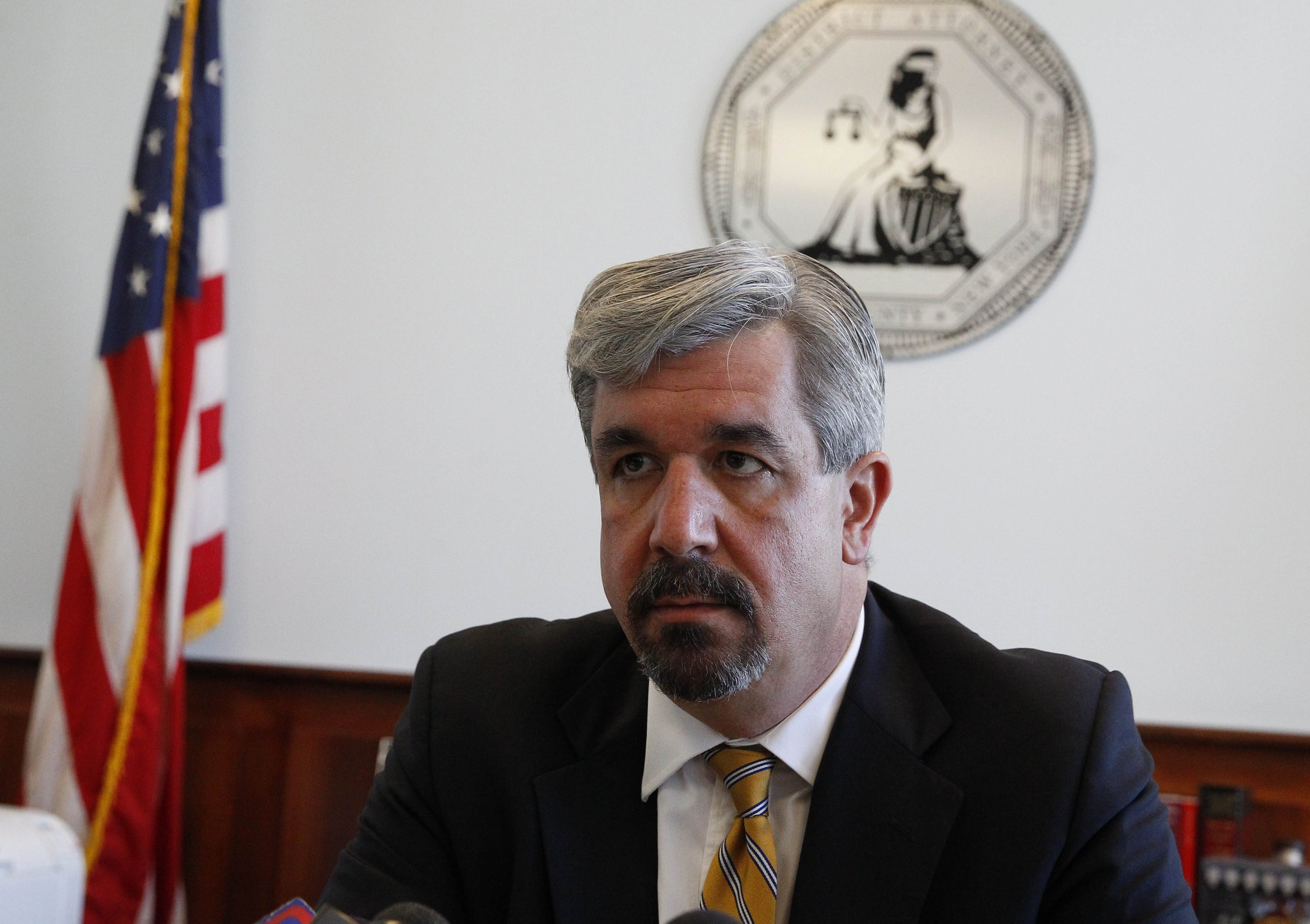 Erie County District Attorney Frank Sedita III revoked the authority of a Cheektowaga town prosecutor over a letter to the editor she wrote calling him 'overzealous' in his prosecution of a former councilman. (John Hickey / Buffalo News)