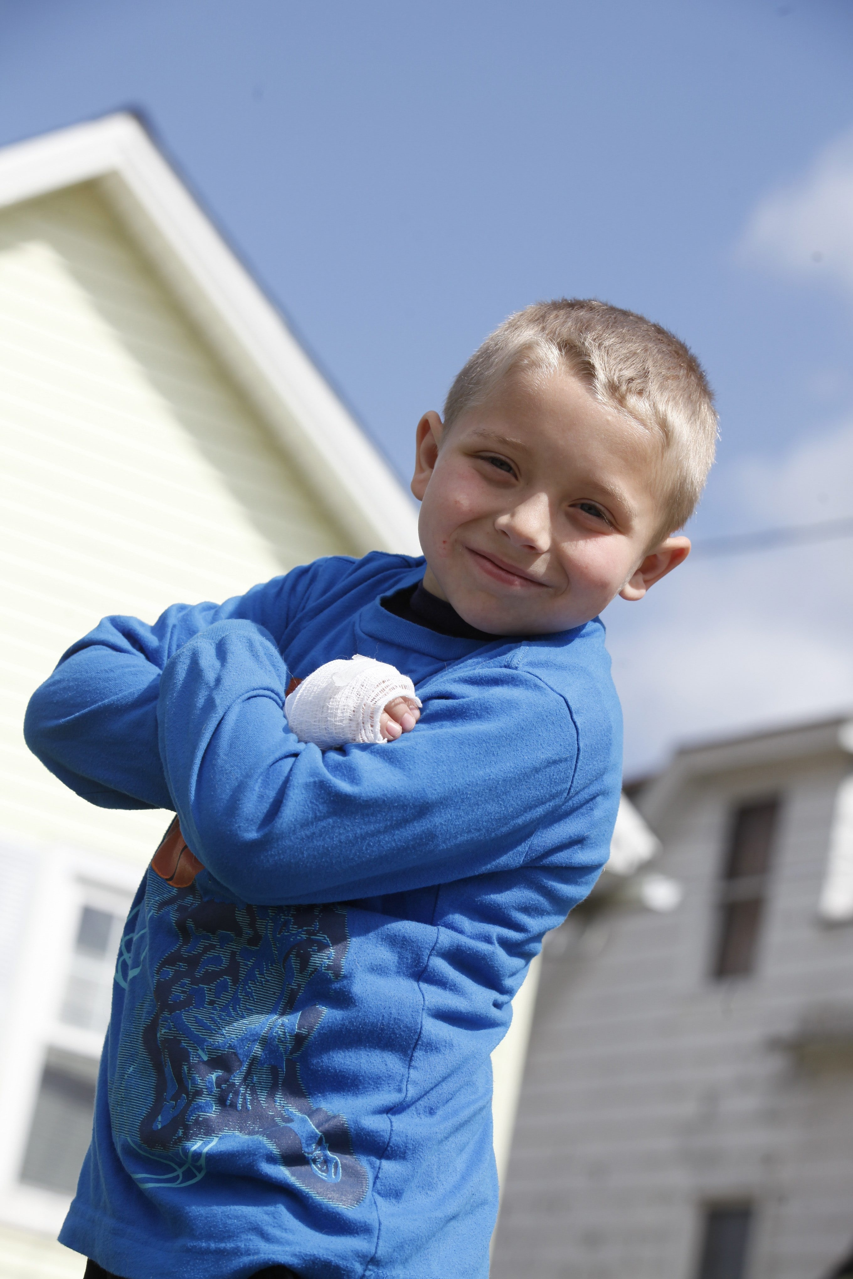Tristan Hume, 7, has a rare genetic disorder that causes cholesterol to build up in his liver.
