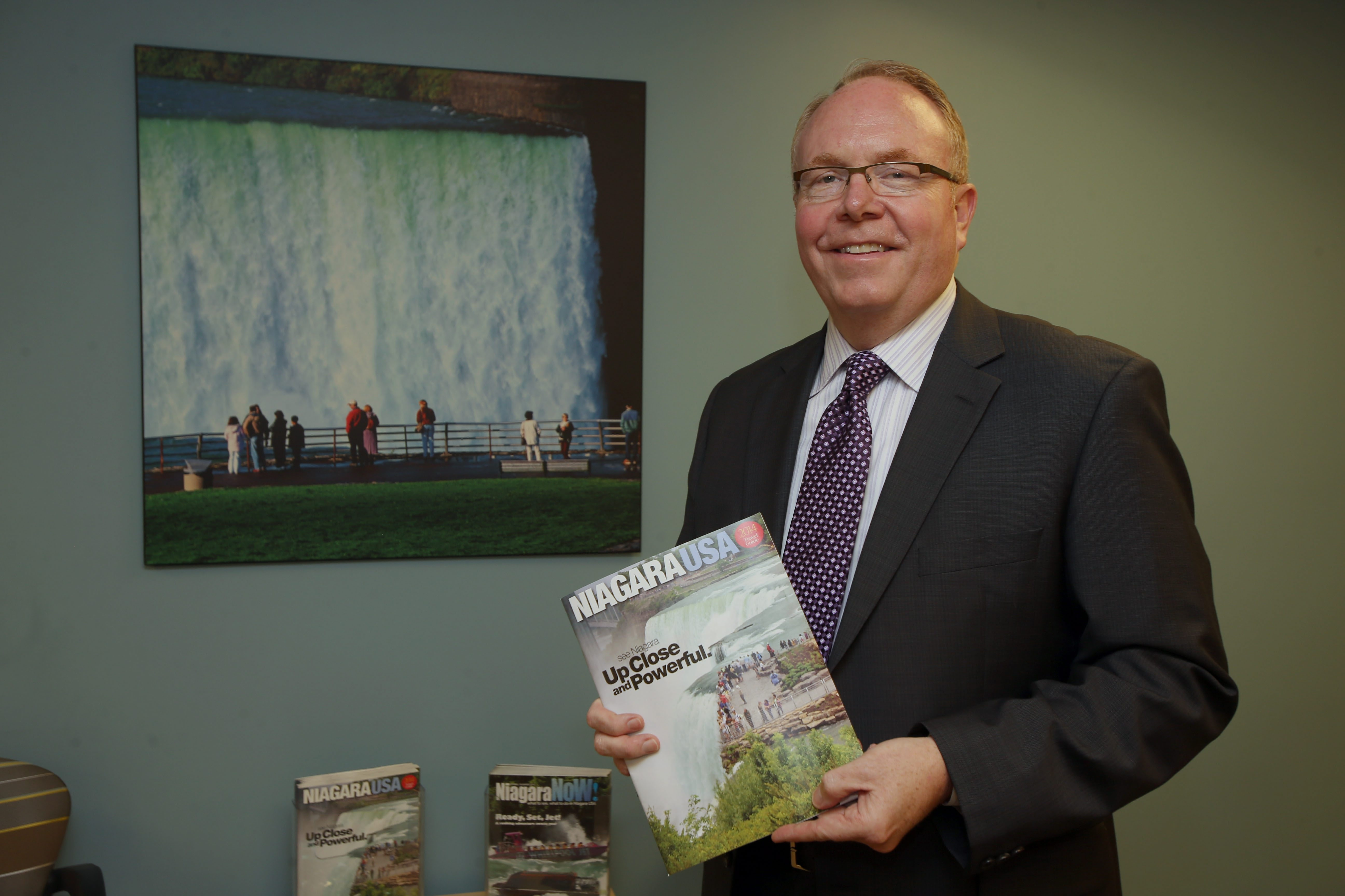 John Percy, president and CEO of the Niagara Tourism and Convention Corp., in the Niagara Falls Visitors Center.
