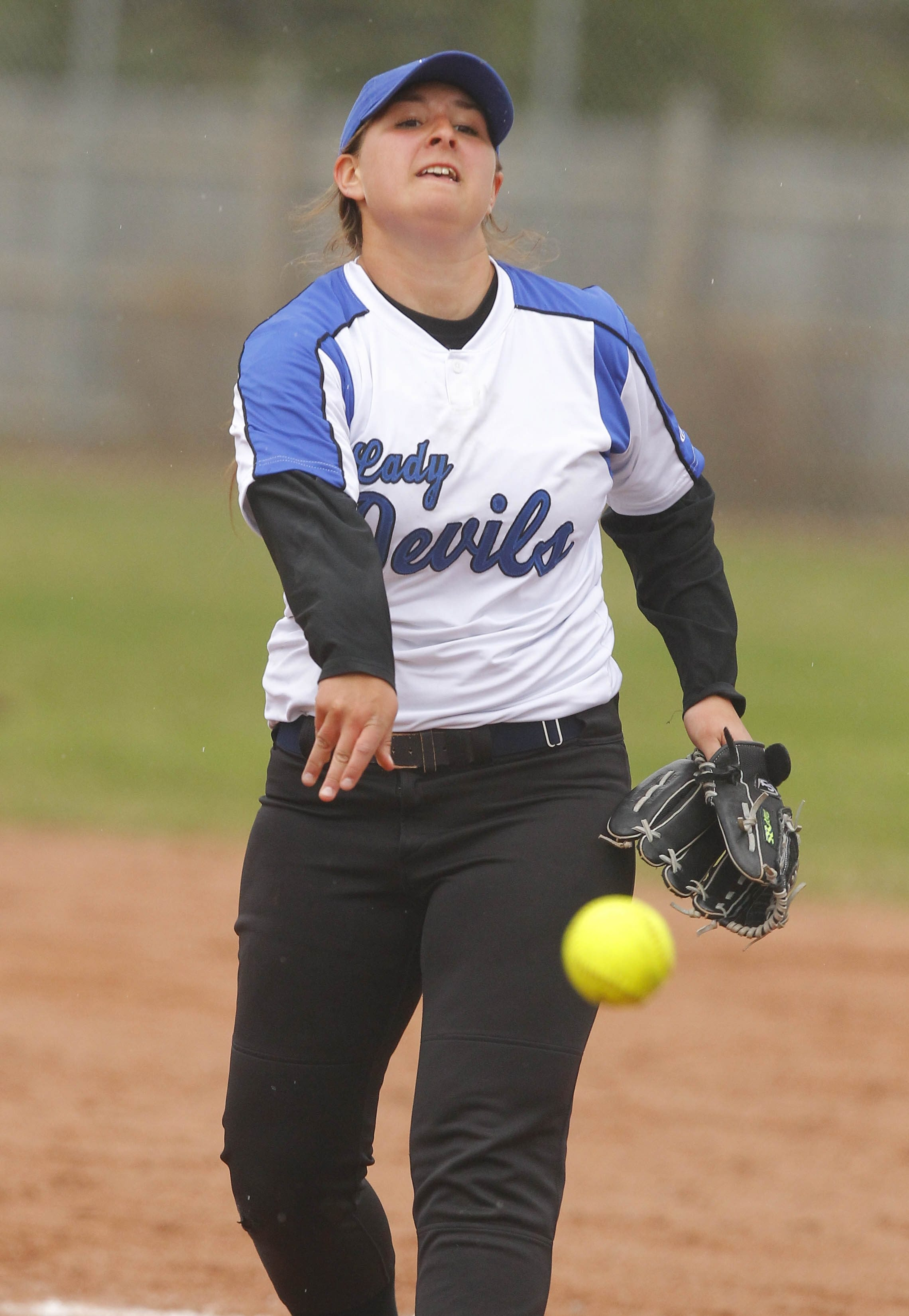 Charlotte Miller of Kenmore West fanned 10 in a 1-0 win over rival Kenmore East.