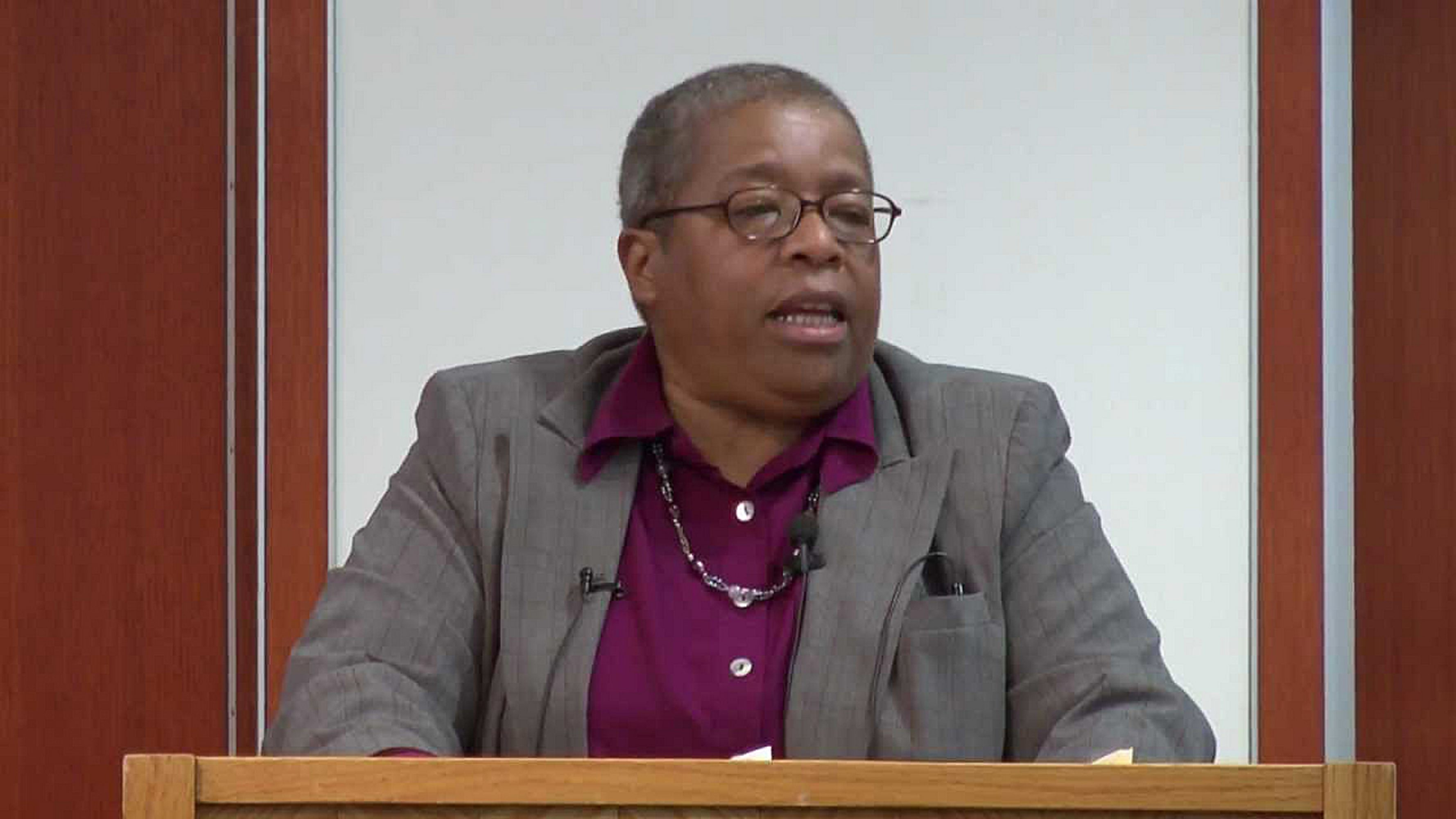 """I have a pontificate degree, but I don't pontificate,"" said Diana L. Hayes, who speaks Monday in UB's Newman Center."