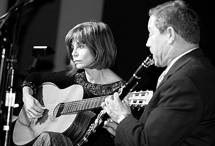 News file photo  JoAnn Falletta, seen here playing guitar at Buffalo State College in 2012, performed with the Buffalo Chamber Players at the chapel in Buffalo Seminary on Wednesday.