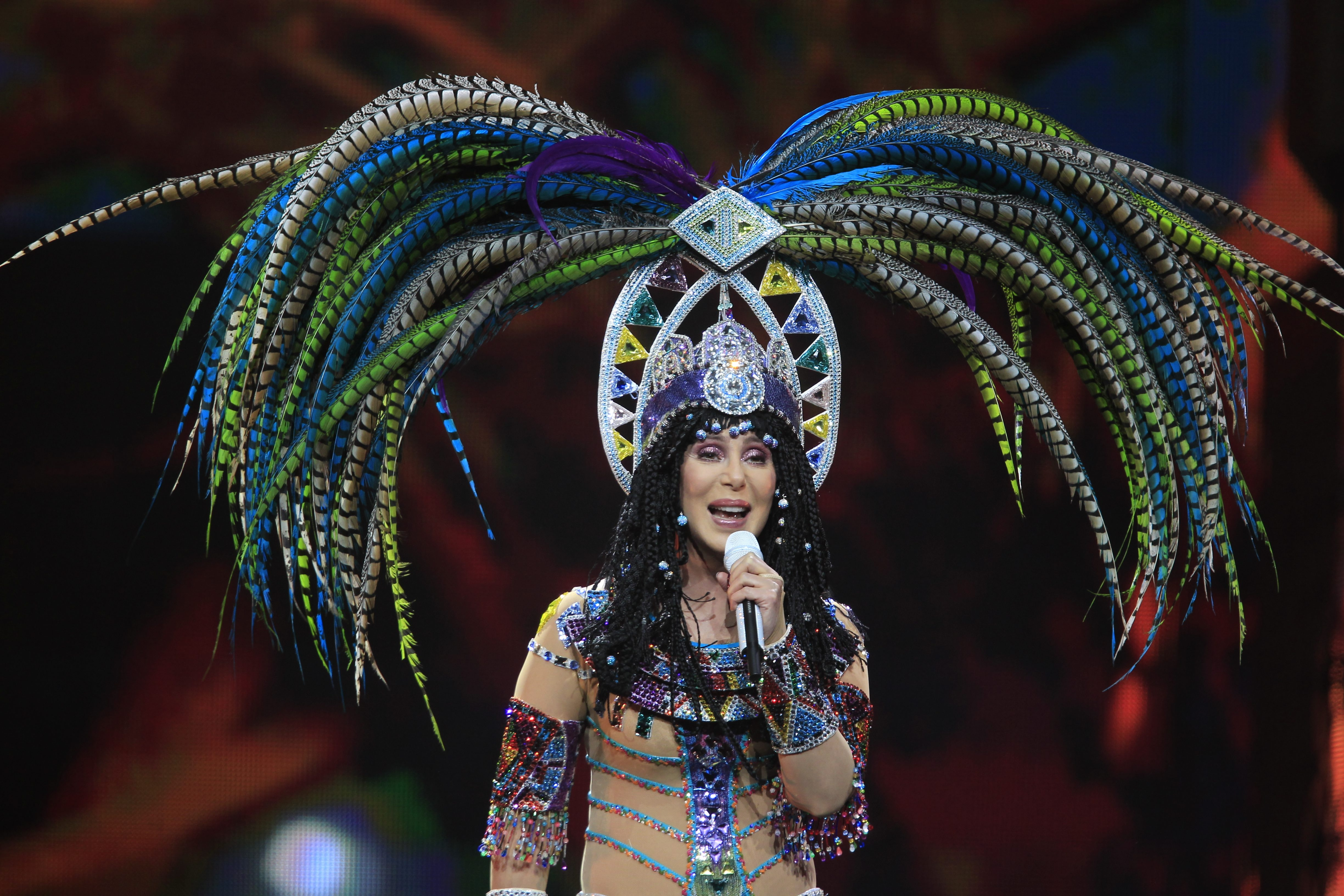 Cher performs on the D2K Tour at the First Niagara Center in Buffalo,NY on, Wednesday, April 23, 2014.