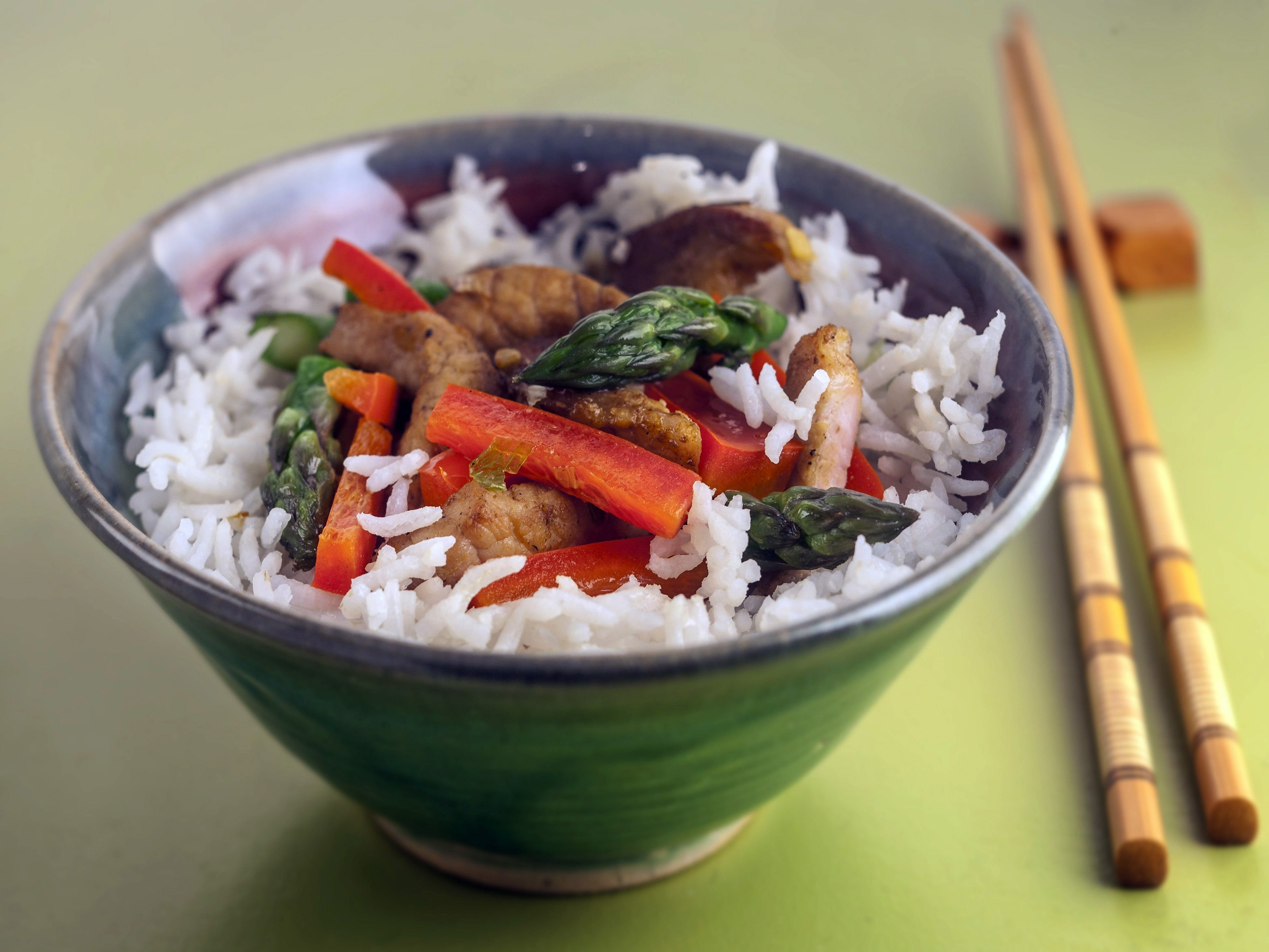 Asparagus is the star of this dish of asparagus and beef stir-fry.