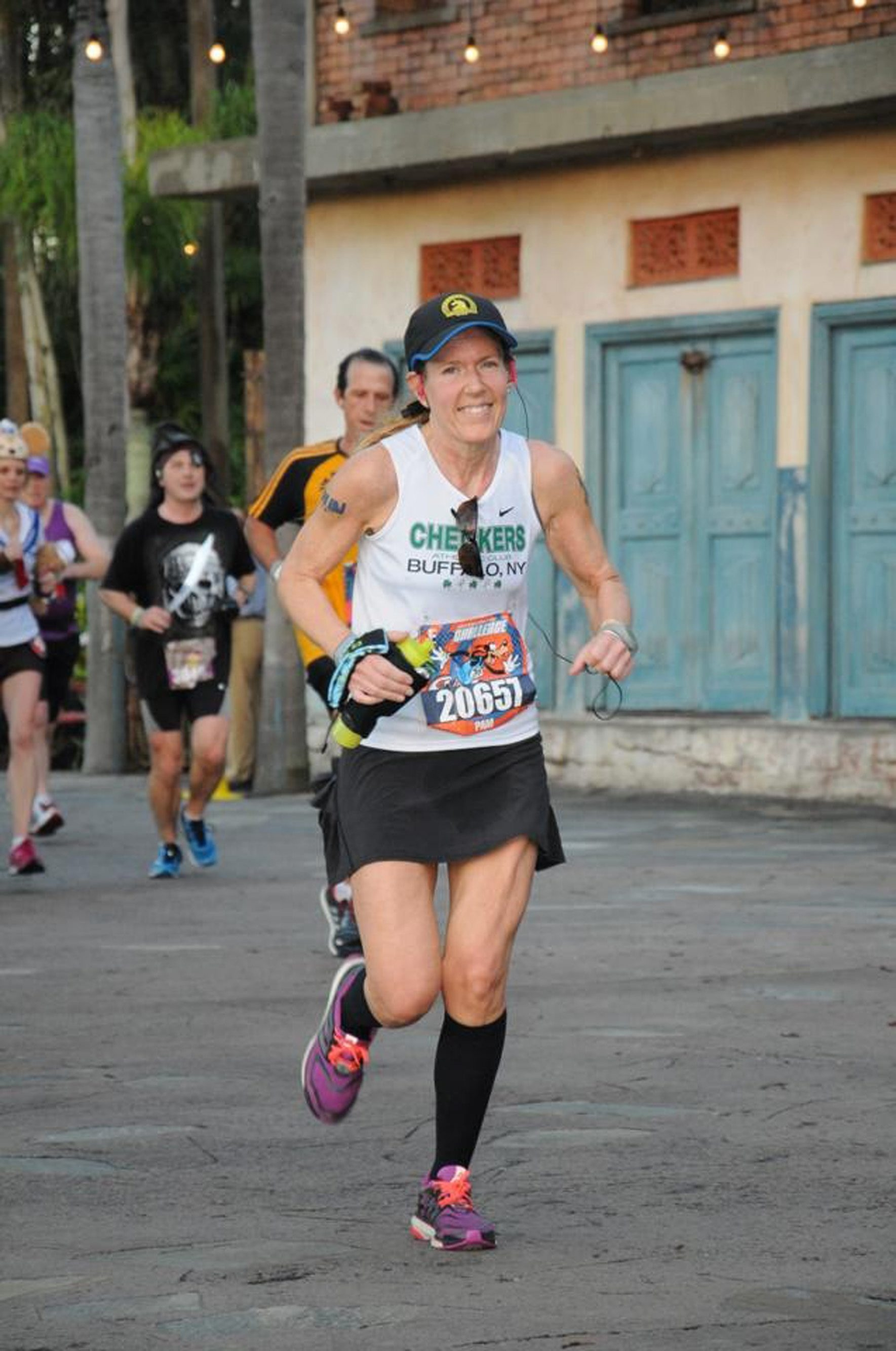 Pam Tymchak finished last year's race just before the first explosion.