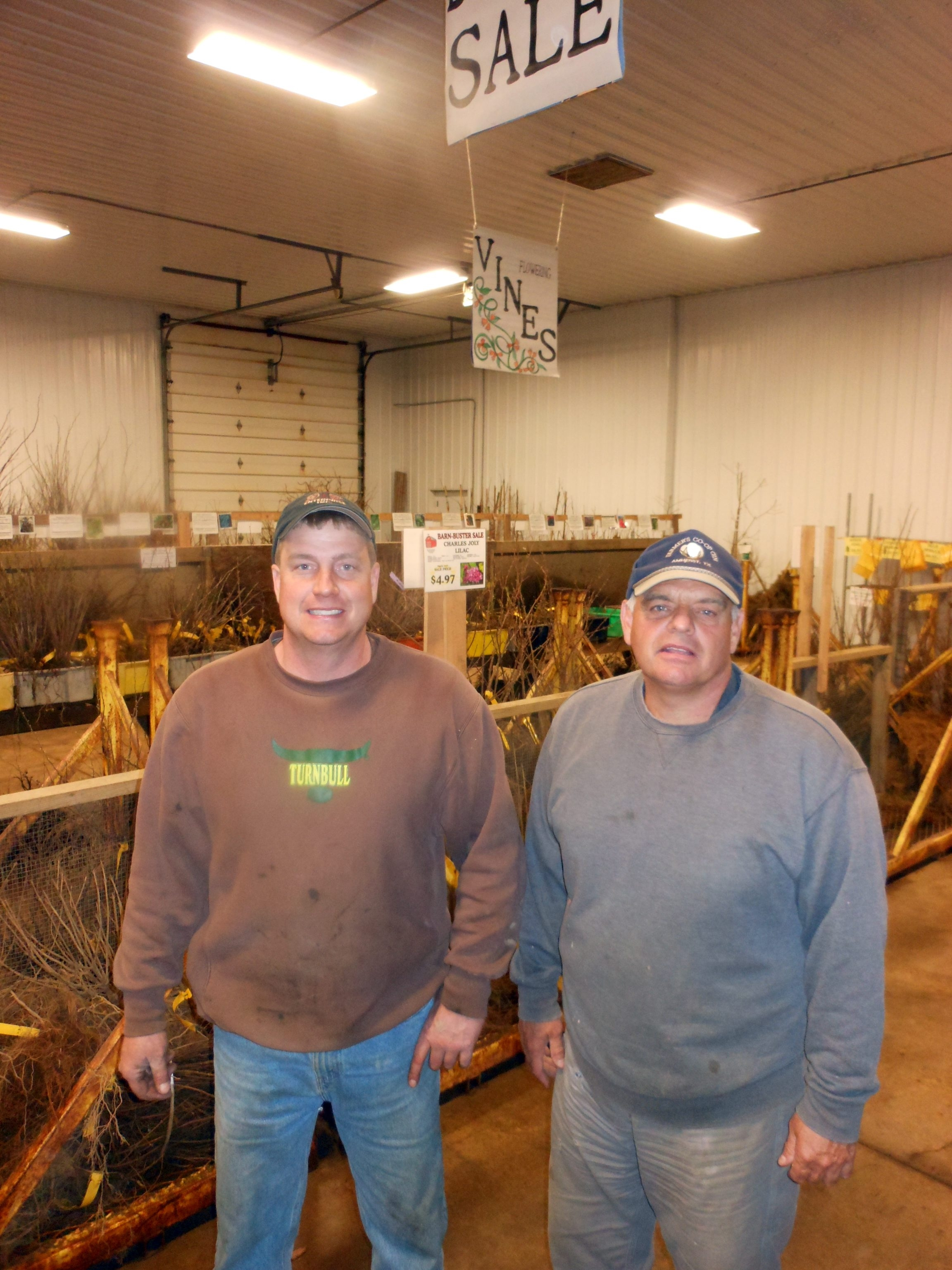 Rob and Bob Turnbull get things growing at their nursery garden center in North Collins.