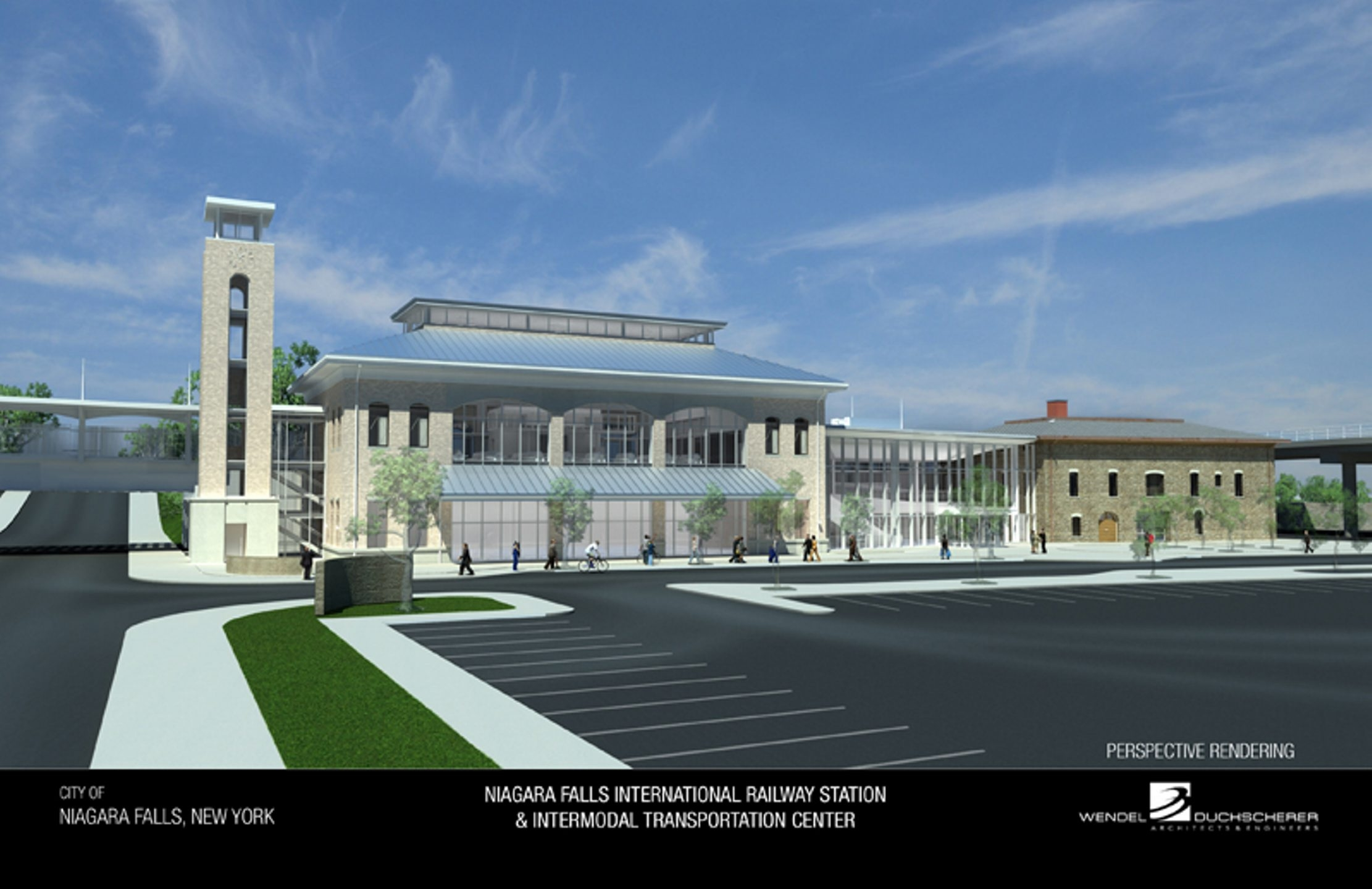 This is a rendering of the planned Niagara Falls Intermodal Transportation Center.