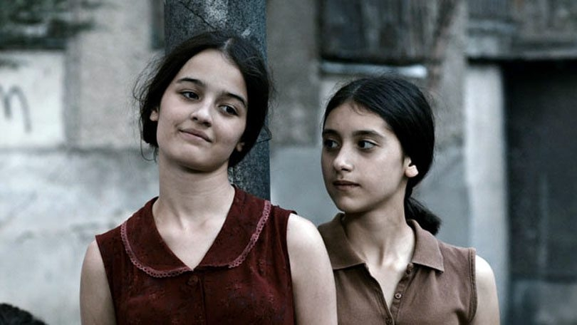 """Mariam Bokeria, left, and Lika Babluani are best friends enduring wartime hardship in """"In Bloom."""""""