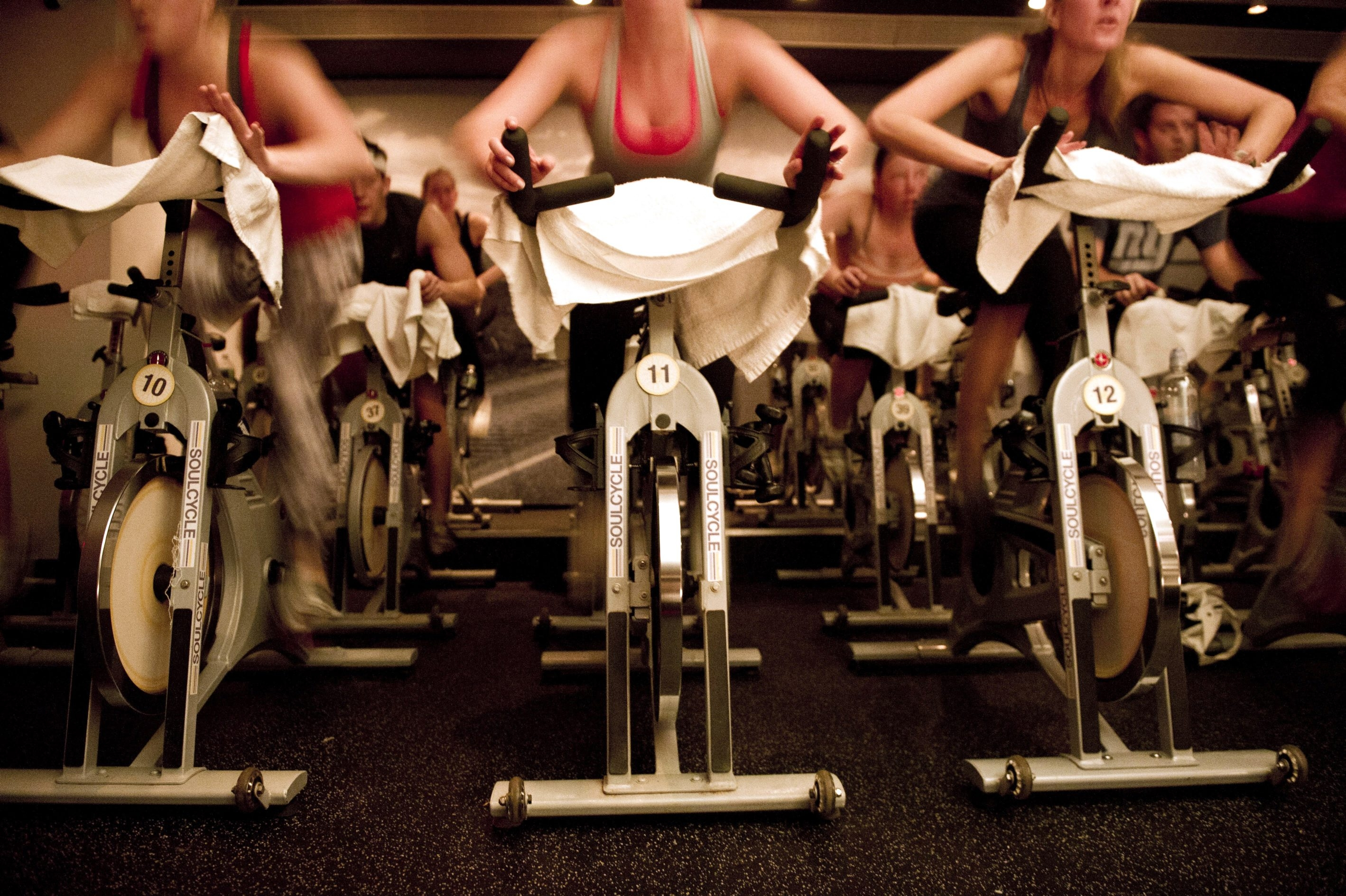 A tip for newcomers: When a grueling spinning class is over, don't leave the gym for 15 minutes. In case you collapse, you'll want someone there to catch you.