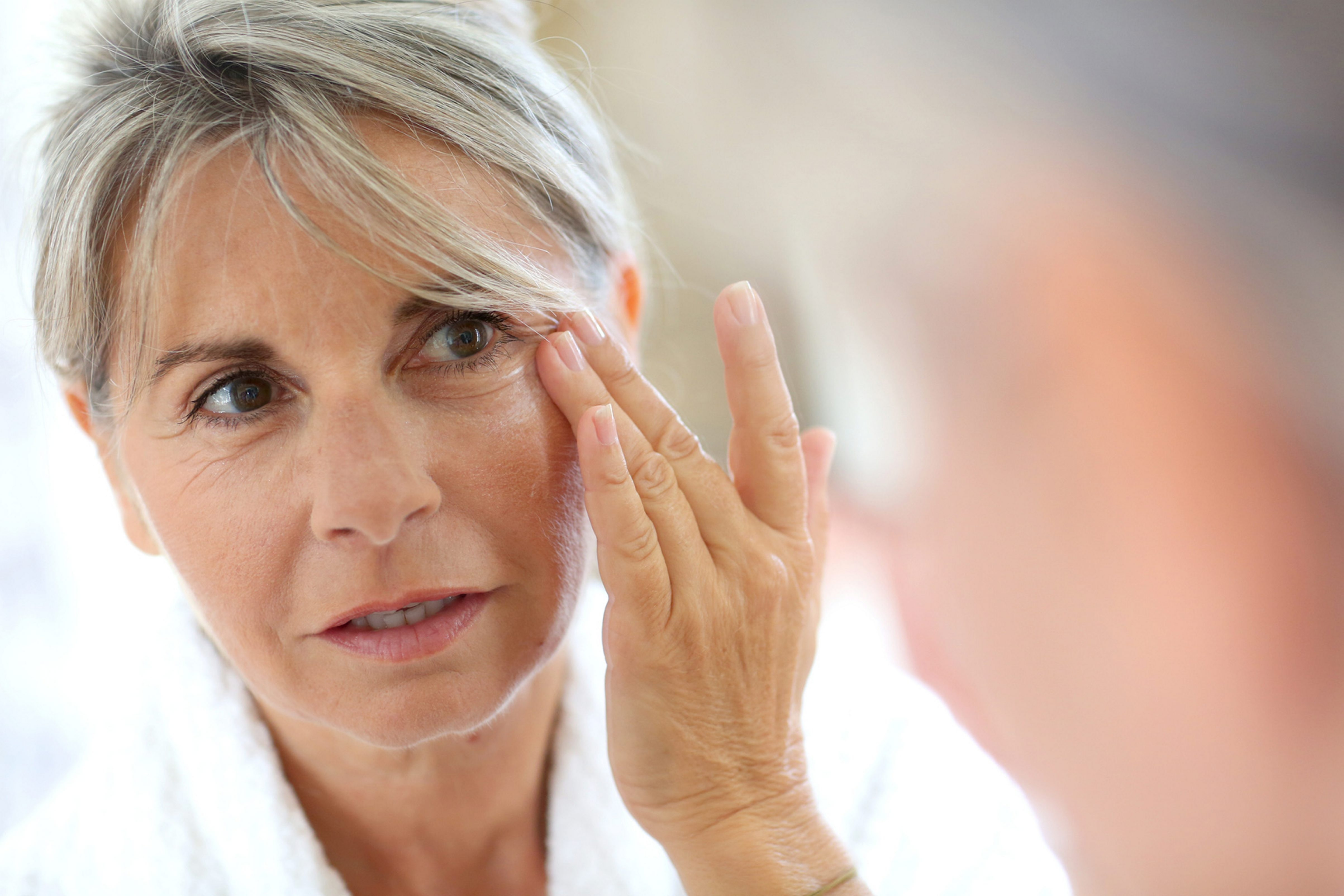 Wearing adequate sunscreen can slow the pace of further skin damage.