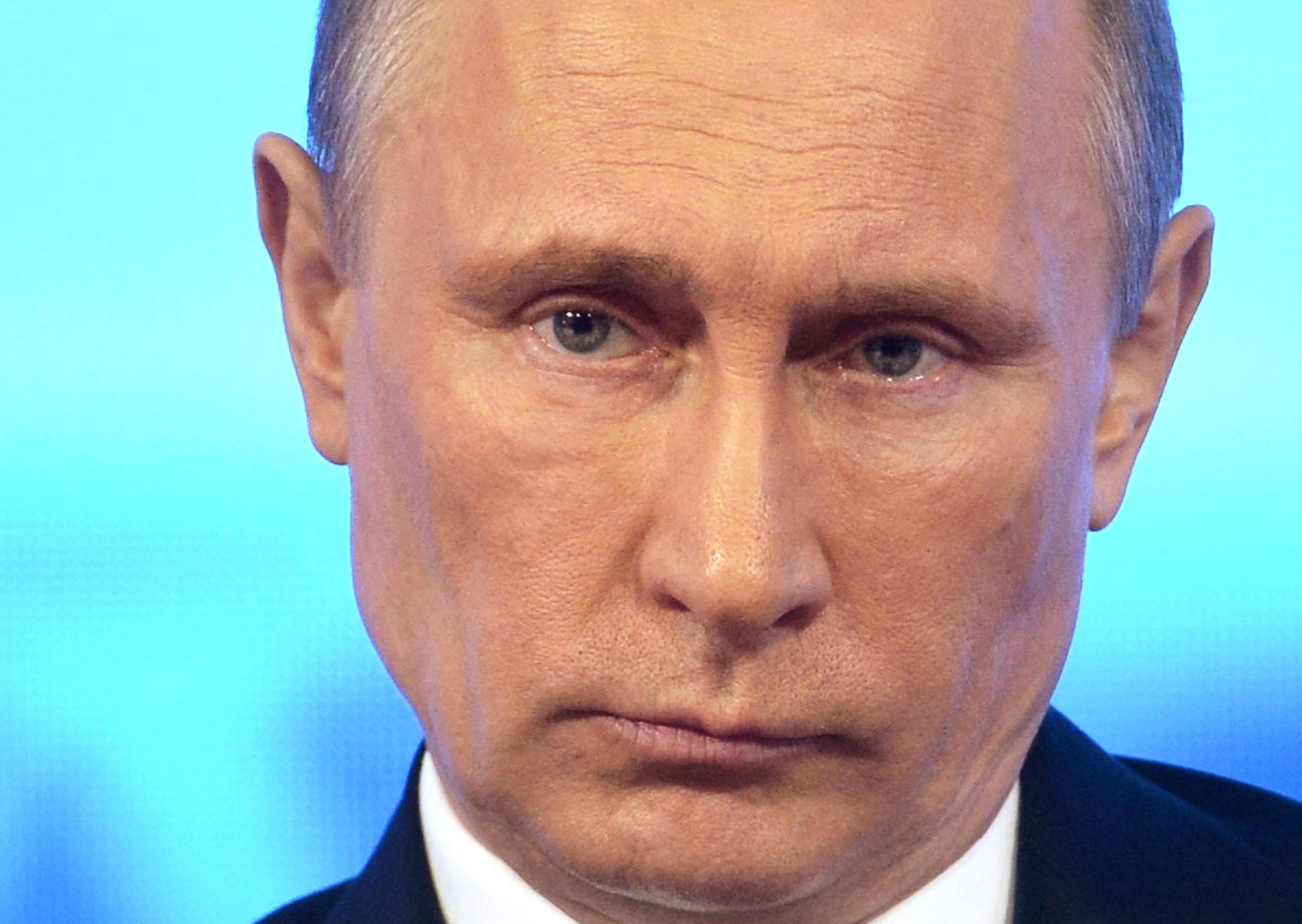 Russian President Vladimir Putin takes part in a call-in show in Moscow on Thursday. Edward Snowden was a caller to the show.