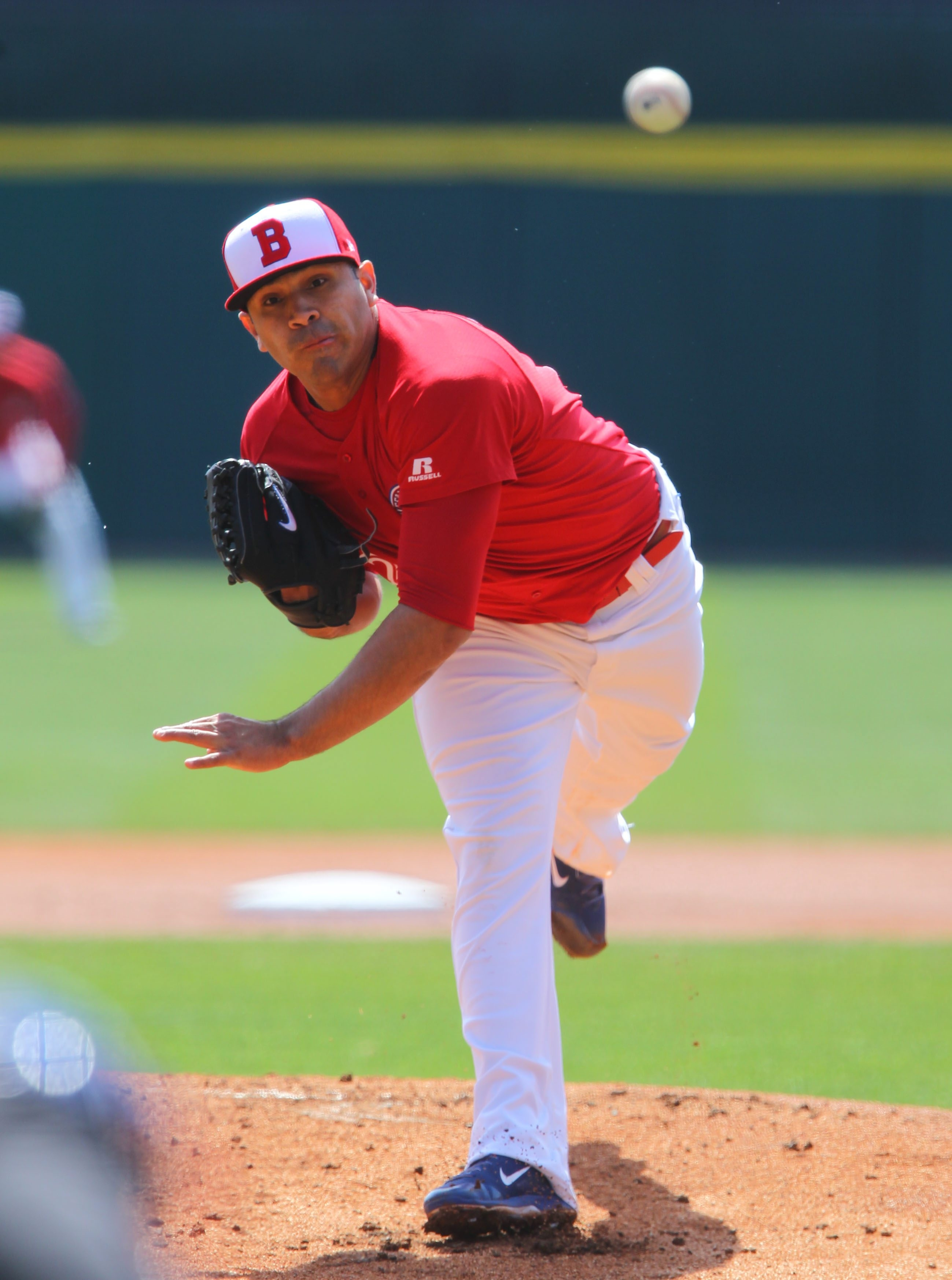 The Bisons' Ricky Romero pitches against Scranton-Wilkes-Barre Thursday afternoon.