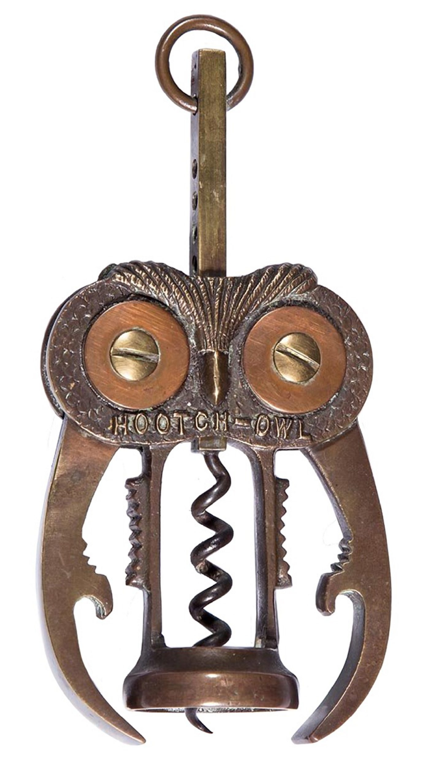 "The ""Hootch-Owl"" is a combination corkscrew-bottle opener-nutcracker that's 6 inches long. It sold for $1,725 at a February Jeffrey S. Evans & Associates auction in Mount Crawford, Va."