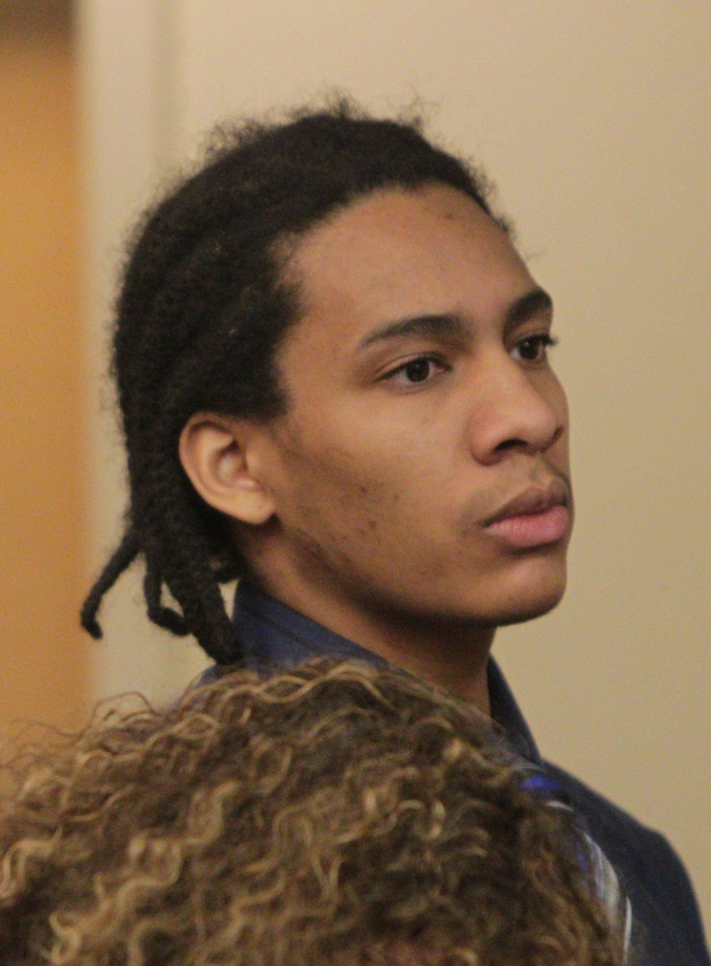 The sentencing of Darshawn Morris was delayed because of motion by the defense, Thursday, April 17, 2014. They will reconvene at 2pm May 14.  (Sharon Cantillon/Buffalo News)