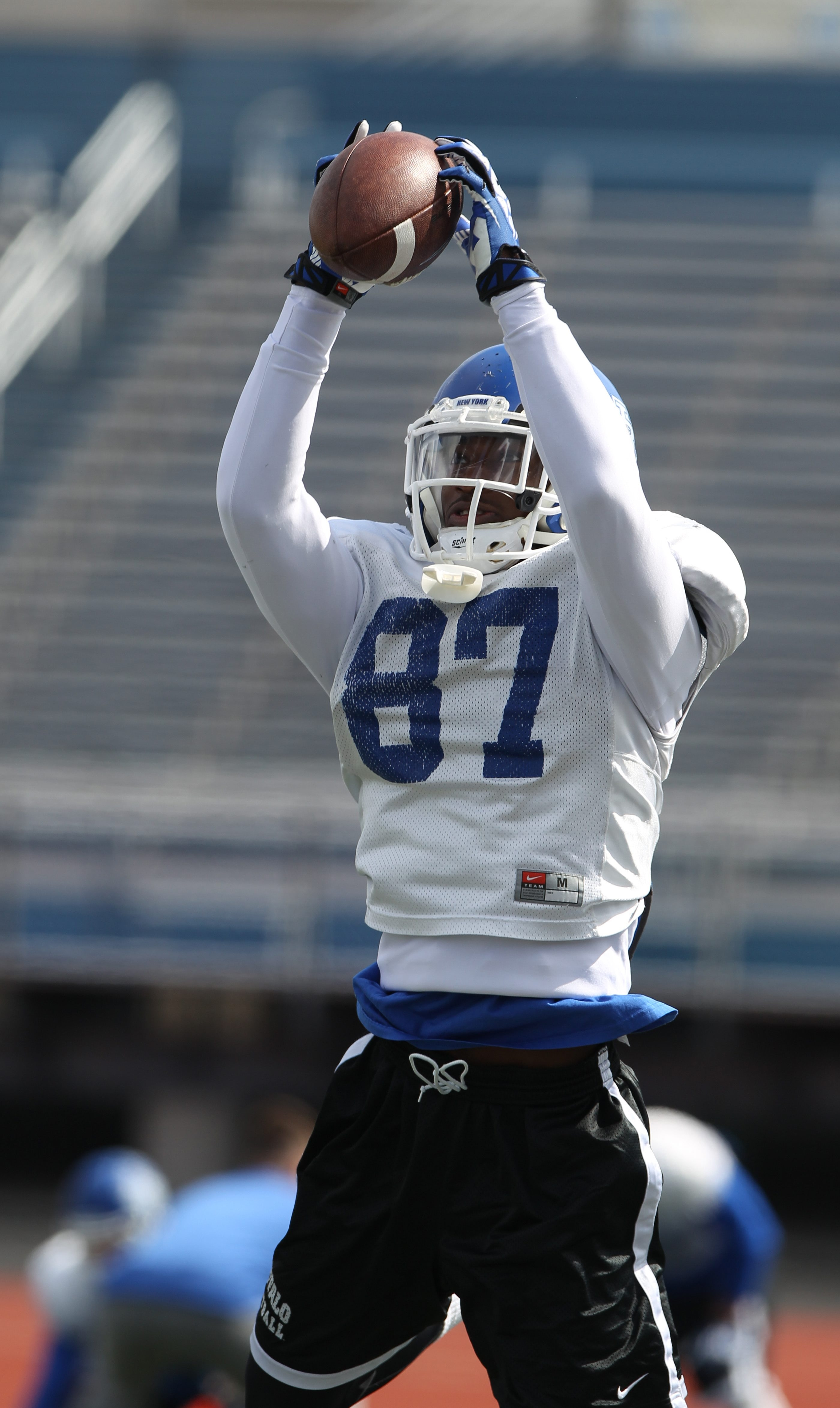 UB sophomore Boise Ross is working hard at becoming a more accomplished receiver.
