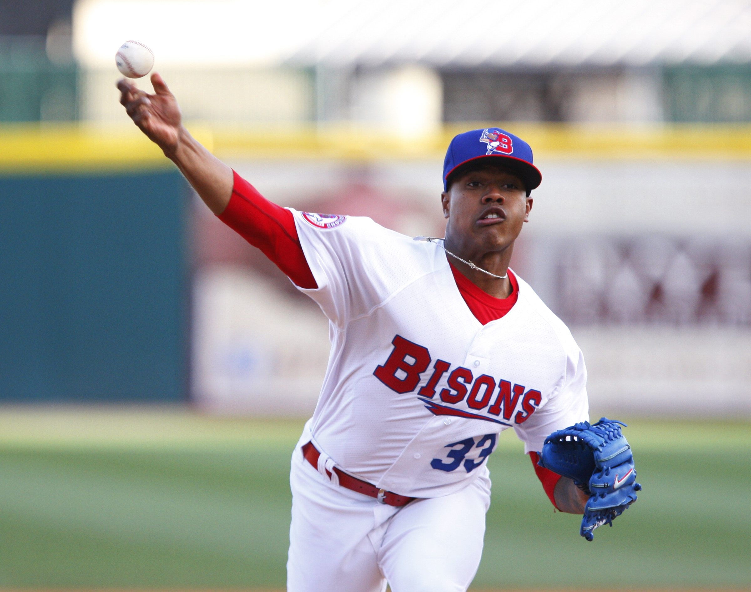 Bisons starter Marcus Stroman gave up five hits and had nine strikeouts against Scranton/Wilkes-Barre.