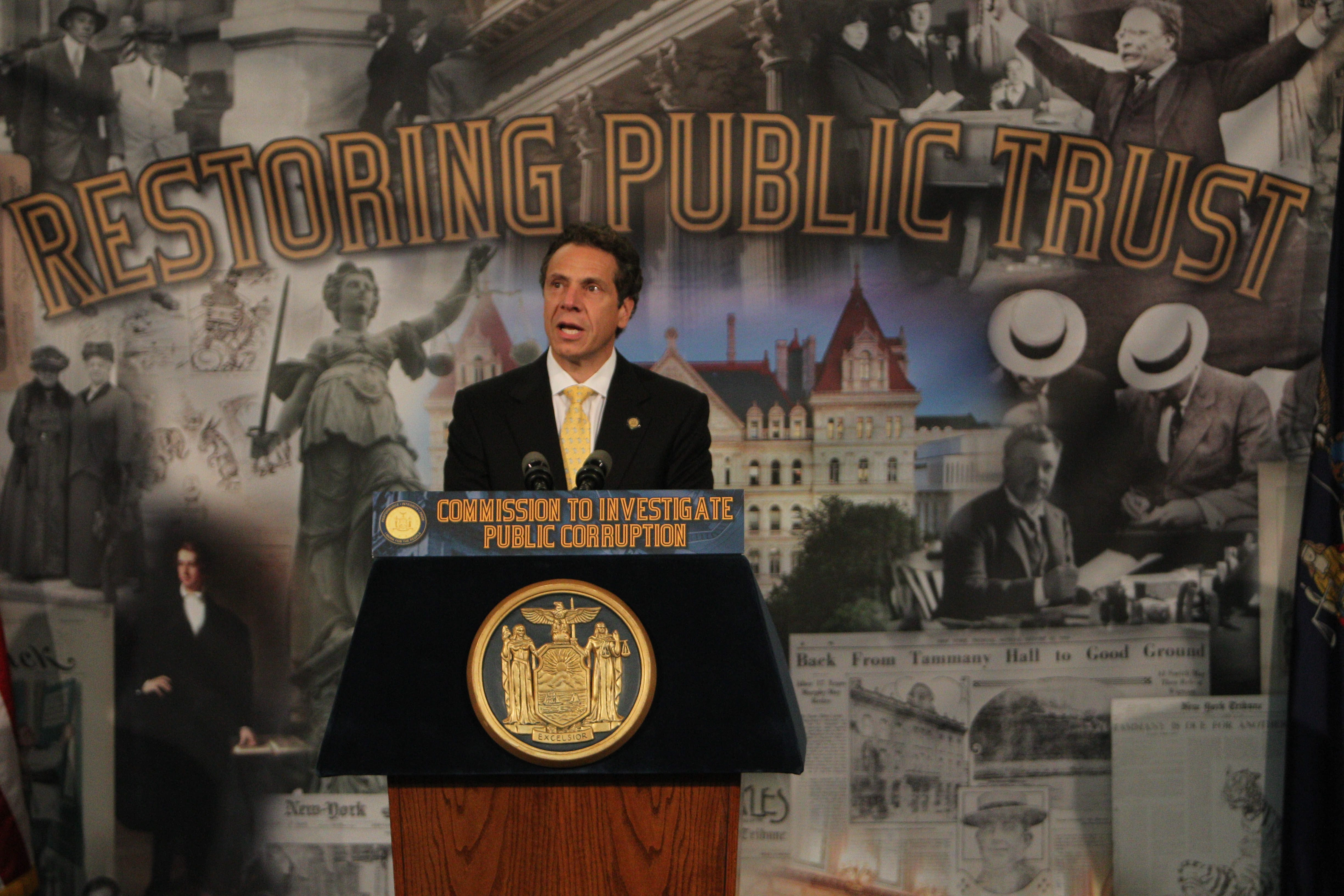 "During a speech at the University at Buffalo Law School in July, Gov. Andrew Cuomo said his Moreland Commission would target ""systemic corruption and the appearance of such corruption."" Now that won't happen.  (Buffalo News file photo)"