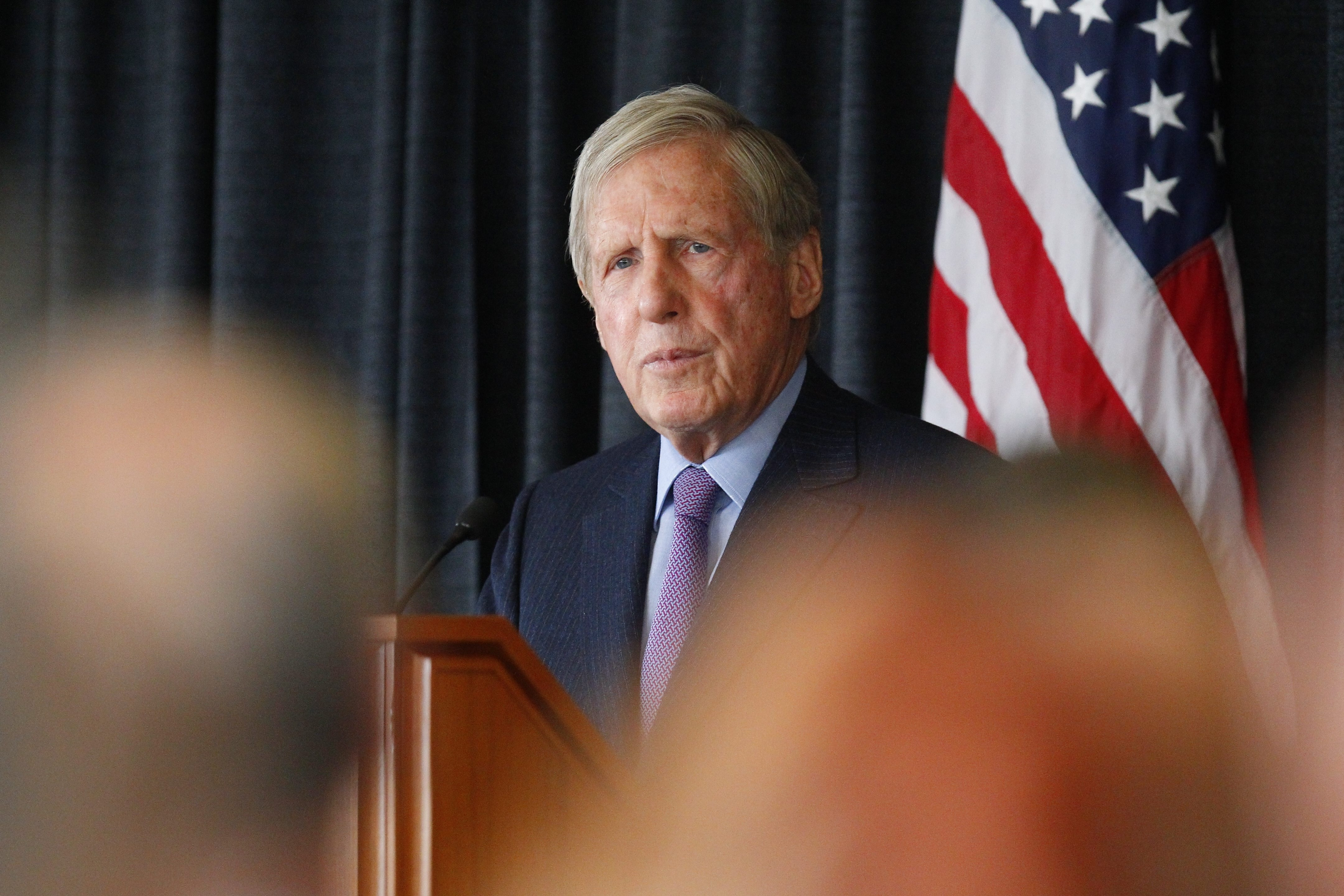 """Robert G. Wilmers, chairman and chief executive officer of M&T Bank Corp., speaks at the bank's annual meeting in Buffalo on Tuesday.    """"It will be harder than ever for banks to generate returns at the level at which shareholders have been accustomed."""" – Robert G. Wilmers, M&T Bank Corp. chairman and CEO"""