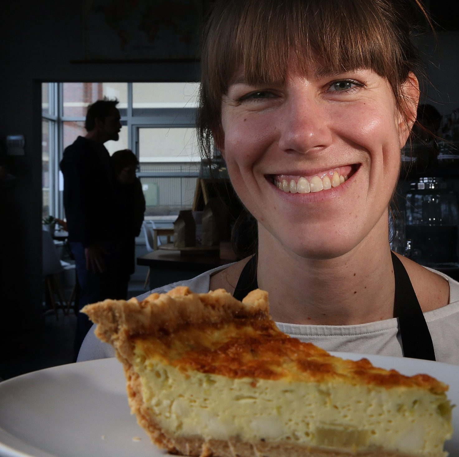 Amy Kelsch is surprised by the wide range of people who love quiche.