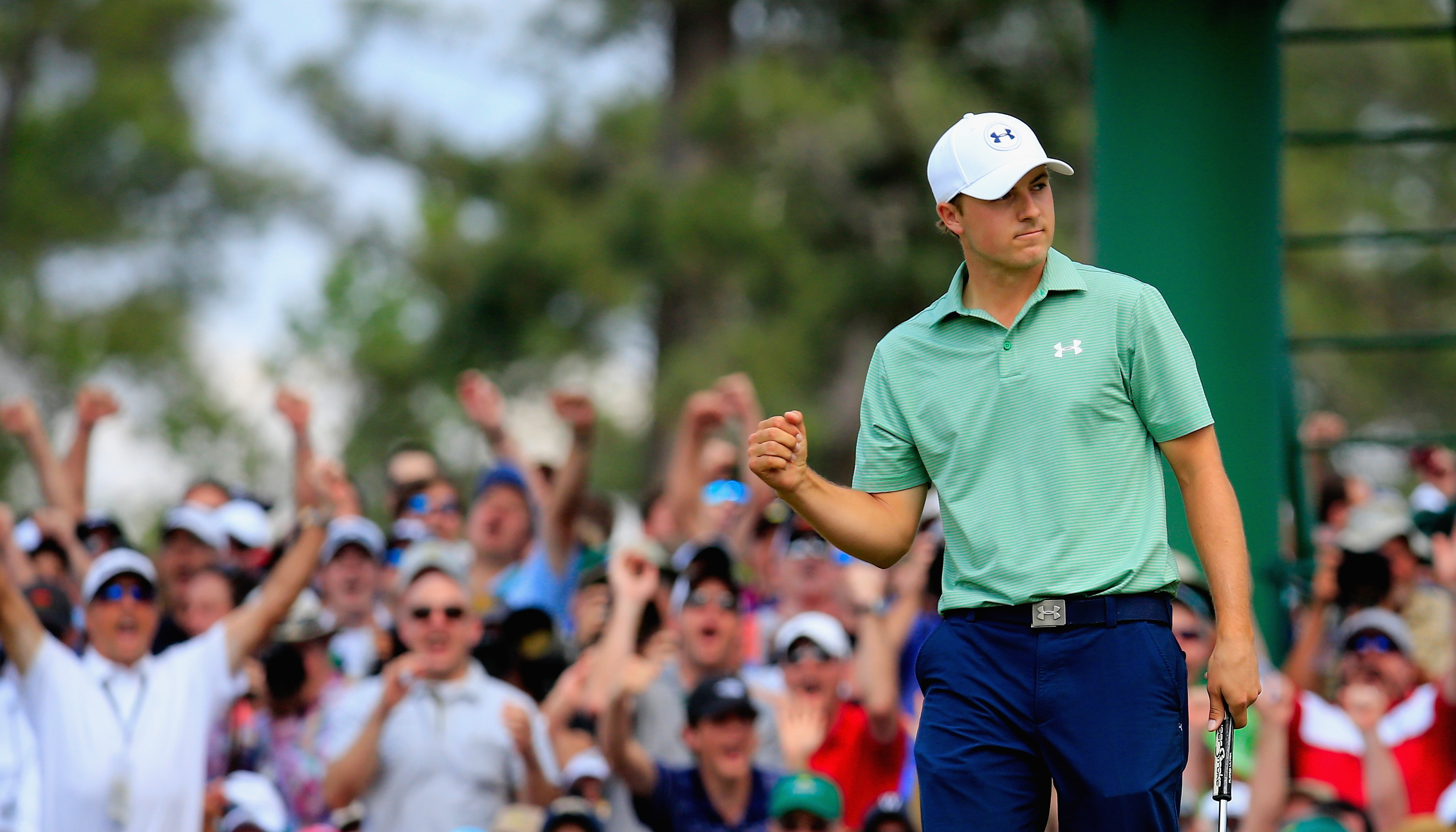 Jordan Spieth, who at age 20 finished second at the Masters on Sunday, has emerged as golf's next big attraction.