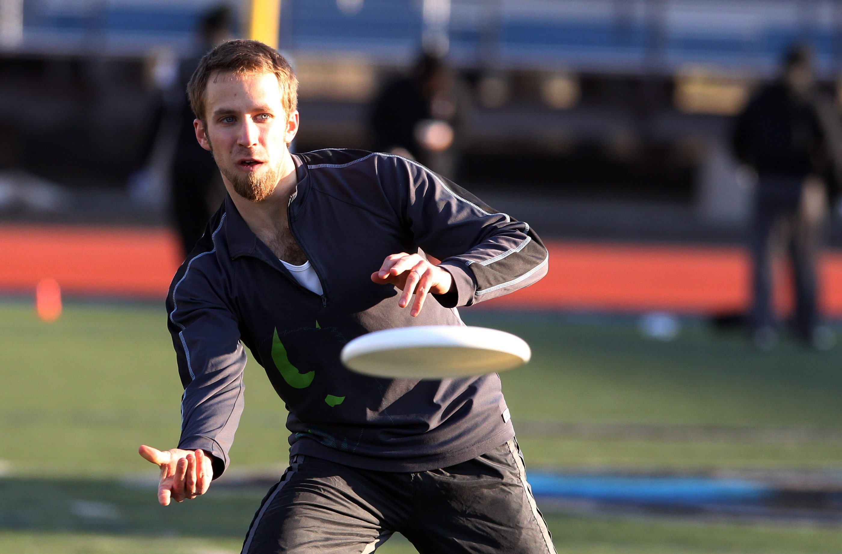 """James P. McCoy/Buffalo News  Timothy """"TJ"""" Burns, a member of the Rochester Dragons Ultimate Frisbee team, starts the day with a big breakfast."""