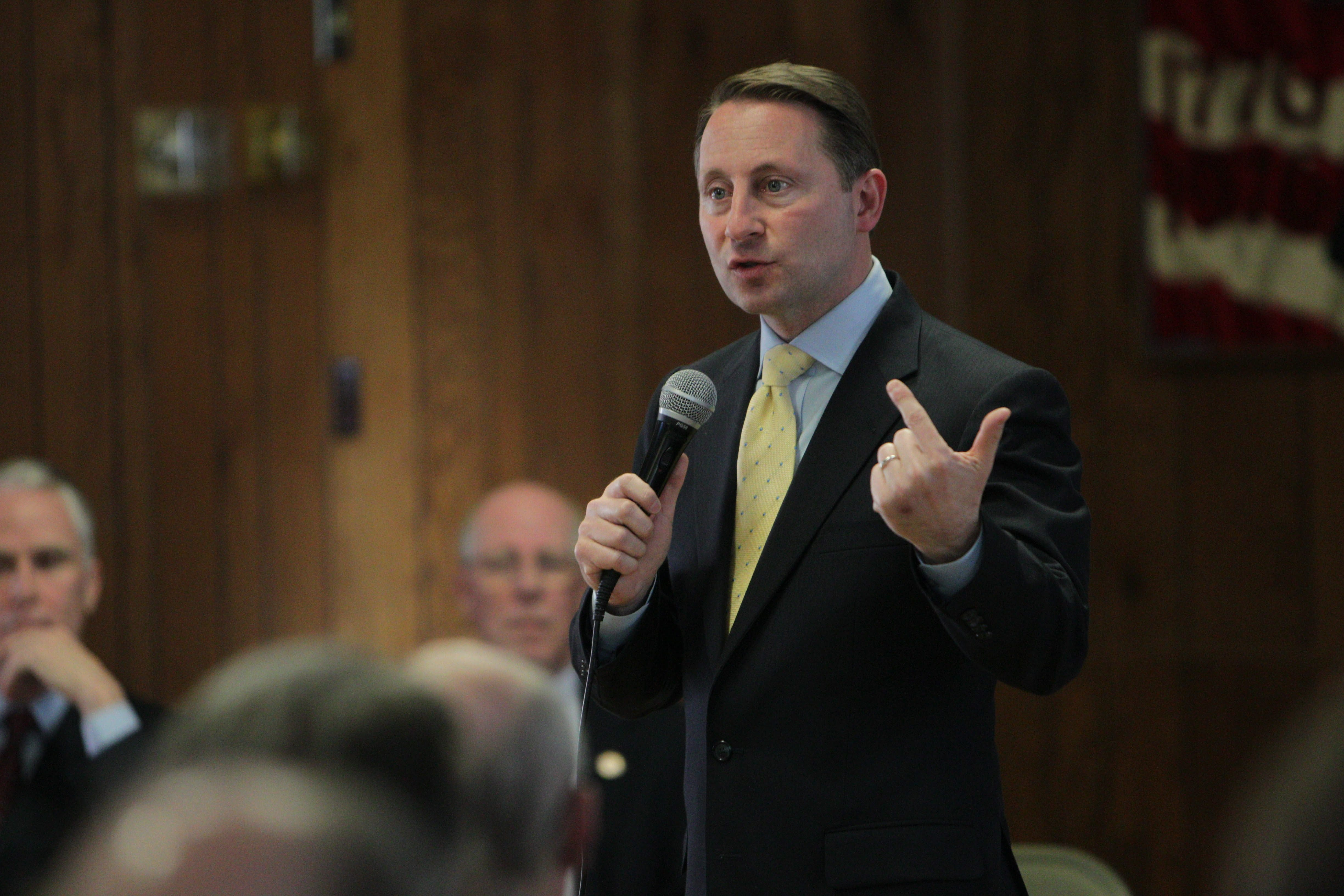 Republican gubernatorial candidate Rob Astorino speaks at the Erie County GOP Chairman's Roundtable at the Amherst Township Post 416 on Saturday.