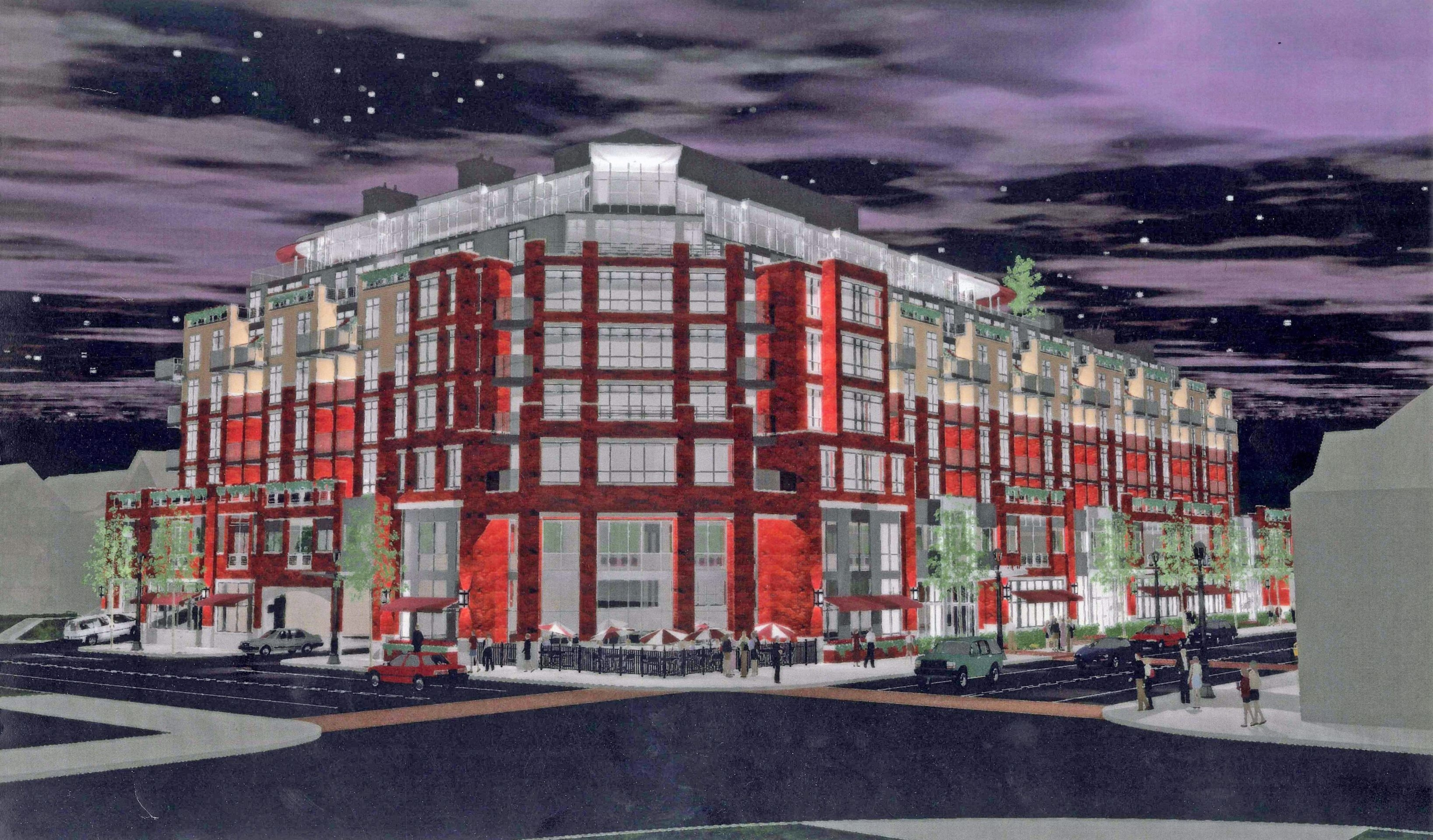 Rendering of proposed hotel at the corner of Elmwood and Forest avenues in Buffalo.