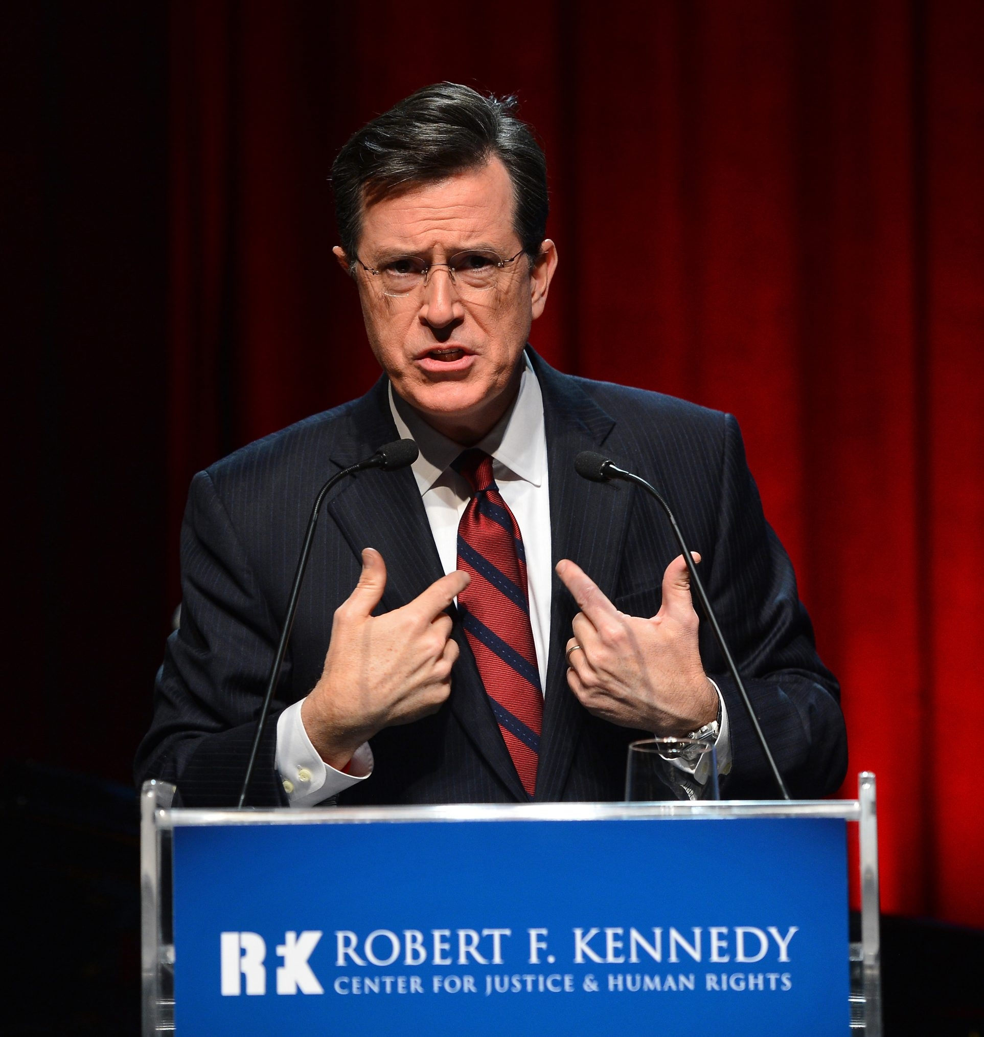 """Stephen Colbert says he will ditch his satirical conservative rant when he takes over """"Late Night"""" next year."""