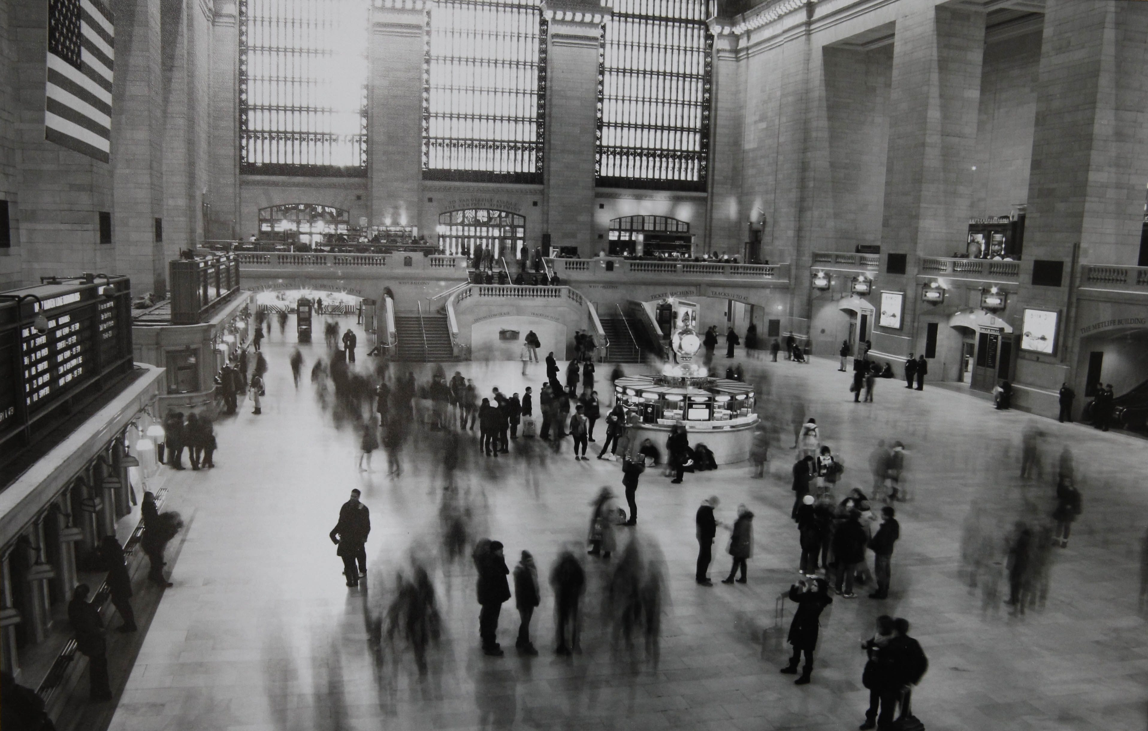 """Best Photojournalism/Documentary Award:  """"Grand Central,"""" ALLIE SCUMACI, Williamsville East High School   Allie Scumaci, Williamsville East High School Grade 10  """"Grand Central"""" with  the Best Photojournalism/Documentary Award in 2014 Storrs All-High Photo Show at the  Kenan Center   in Lockport, N.Y. on Friday, April 4, 2014.   (John Hickey / Buffalo News)"""