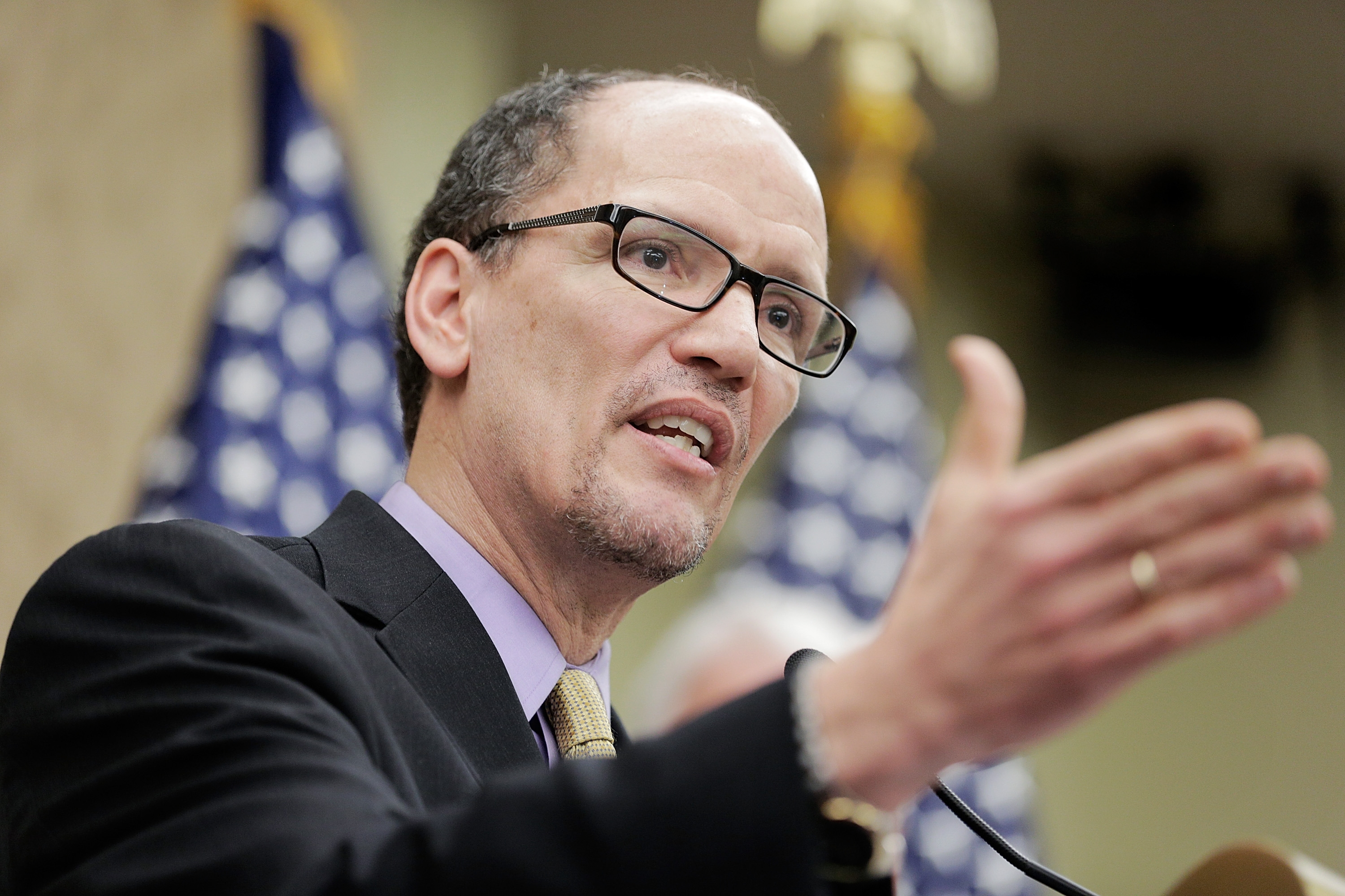 """Secretary of Labor Thomas Perez, a Buffalo native, said Buffalo """"rose to the top"""" of the application pool for funding for Labor Department Youth CareerConnect grants."""