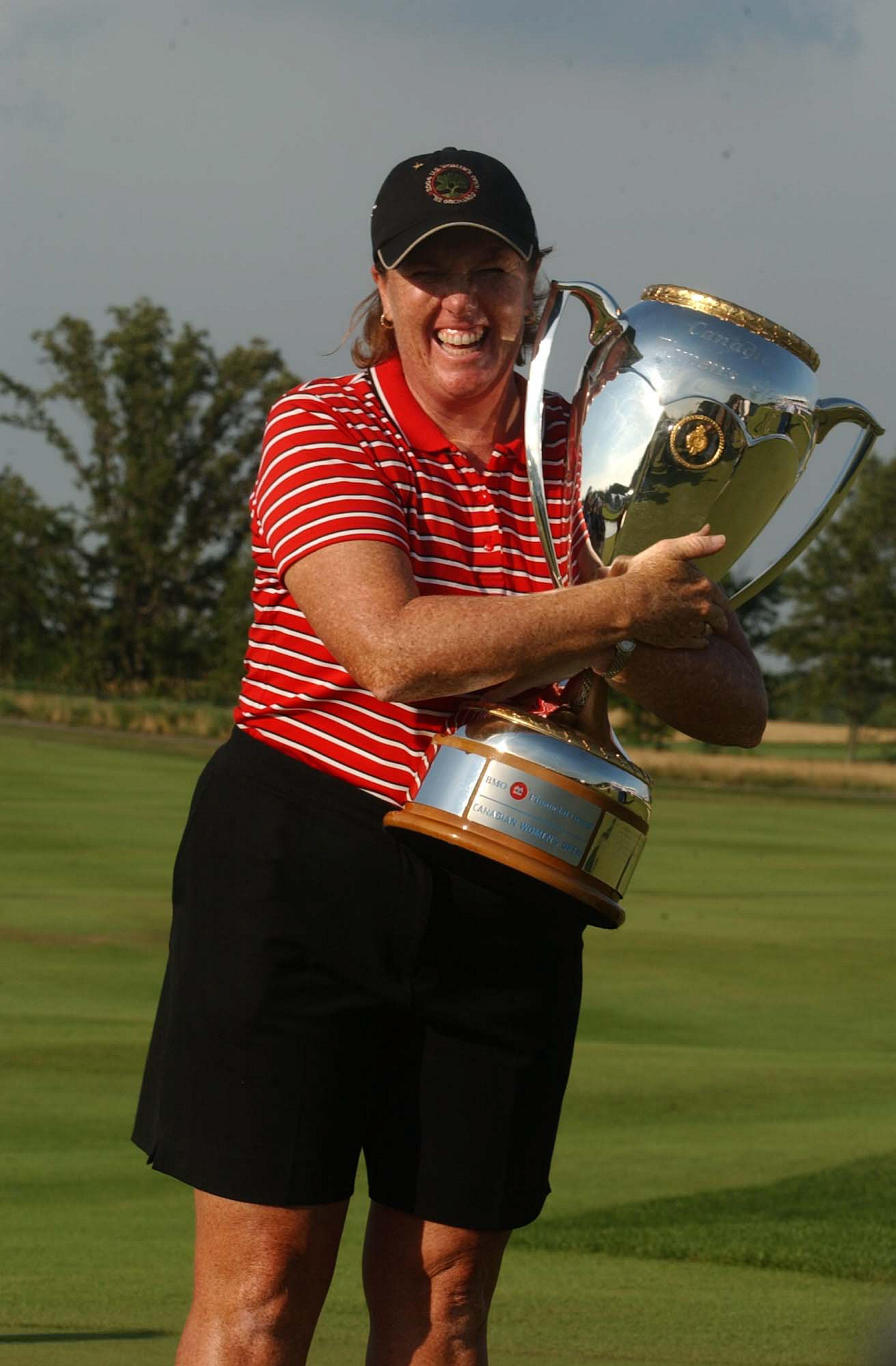 Meg Mallon set the course record of 65 at the Legends of Niagara Battlefield course while winning the Canadian Women's Open in 2004.