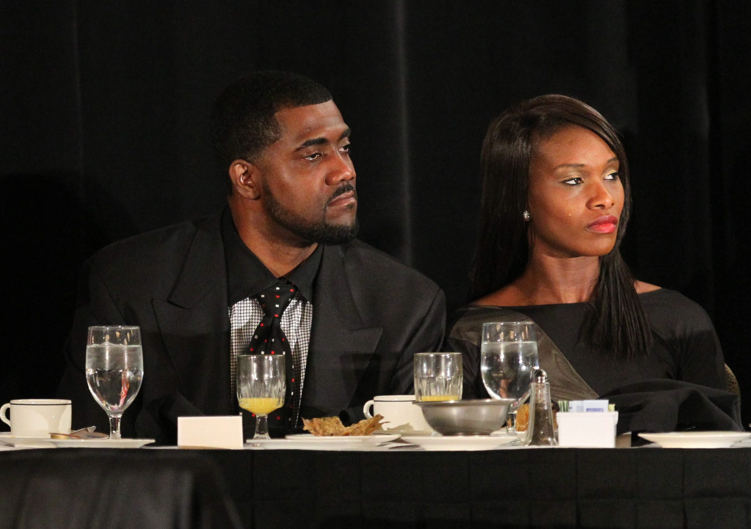 Former Buffalo Bill Kevin Everett and his wife, Wiande, attended Frank Reich's Call to Courage breakfast on Saturday.