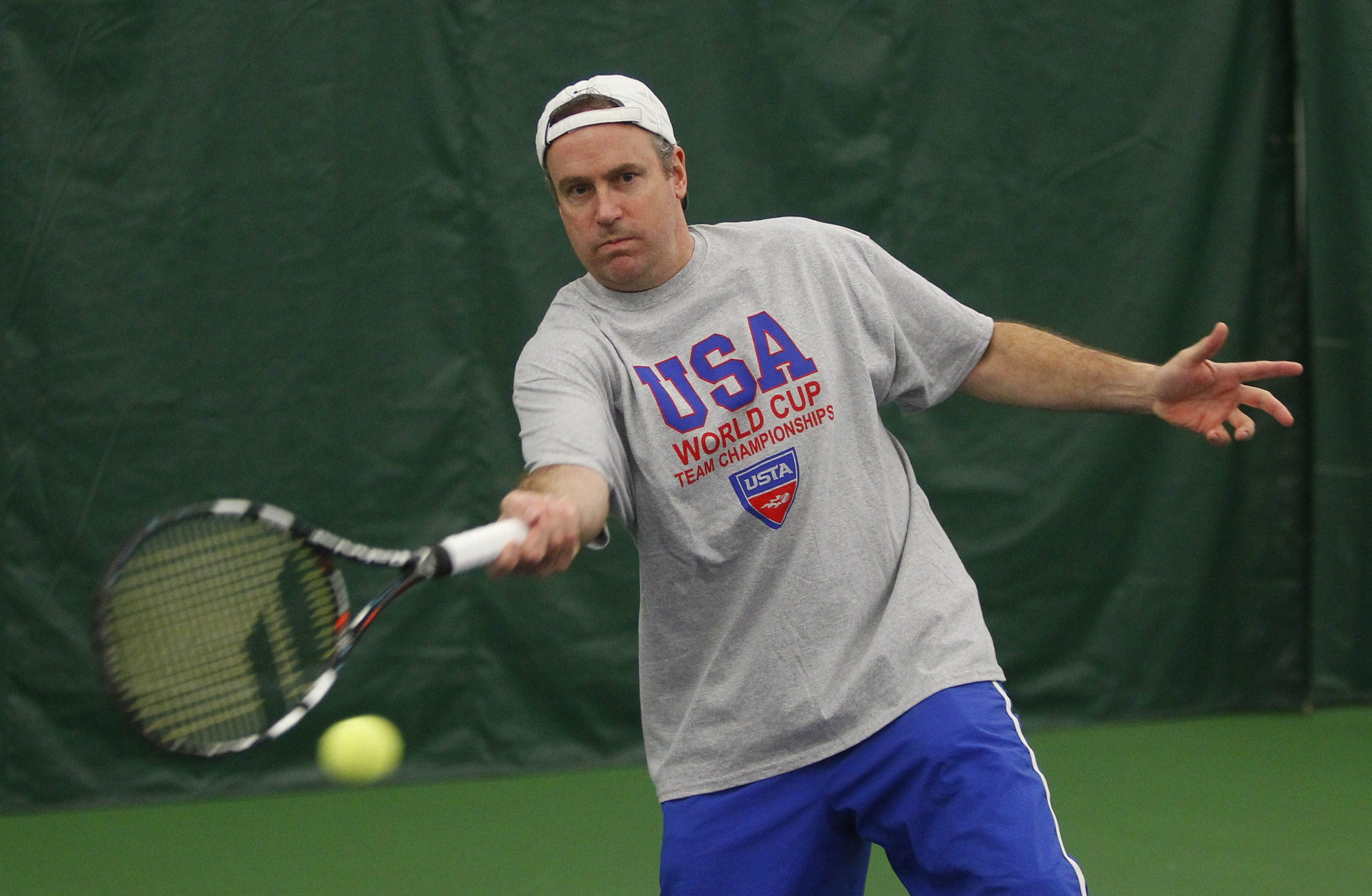 Ken White is one of 40 tennis players who will be representing the U.S. in the U.S. Senior World Championships later this month in Florida.