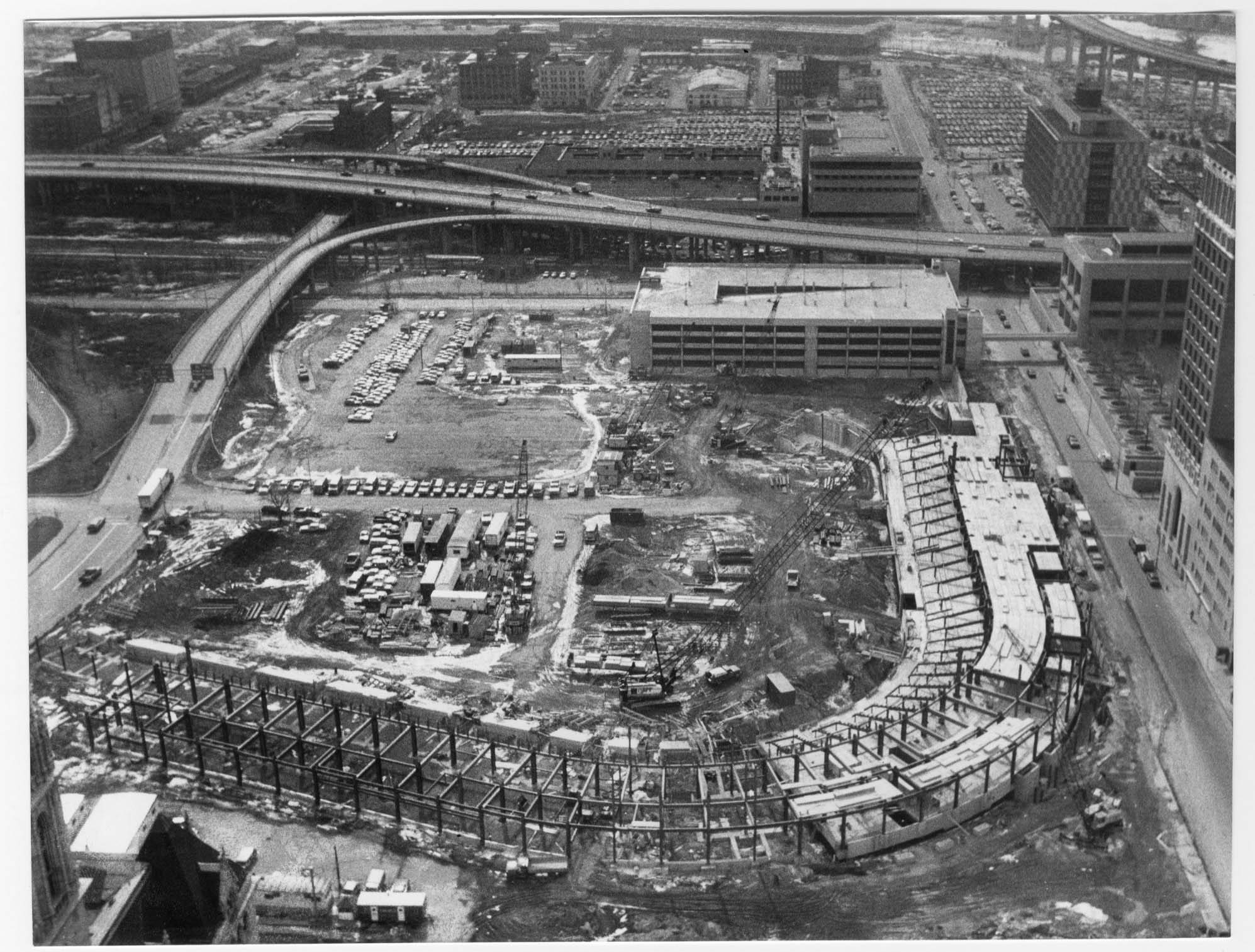 This photo from March 1987 shows Pilot Field taking shape. The first game was played a little over a year later on April 14.