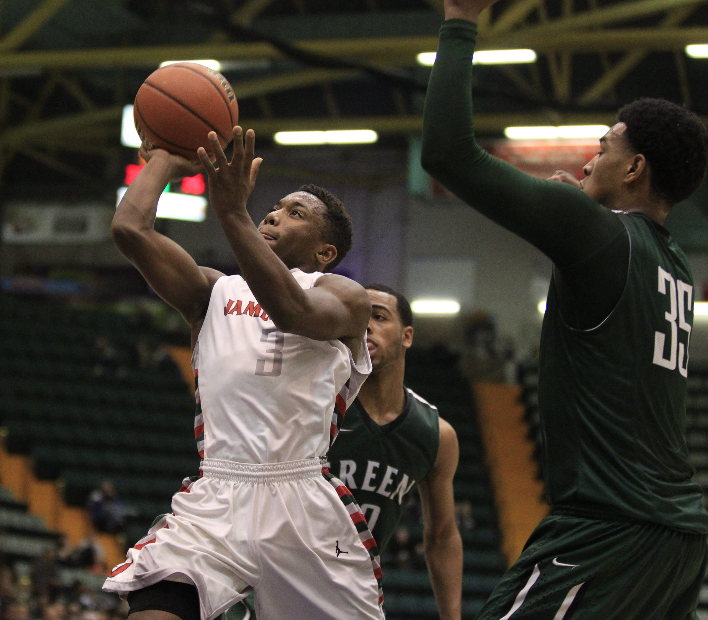 Zacc Kinsey (3) and Jamestown made it to the NYSPHSAA Class AA final, losing to Green Tech.