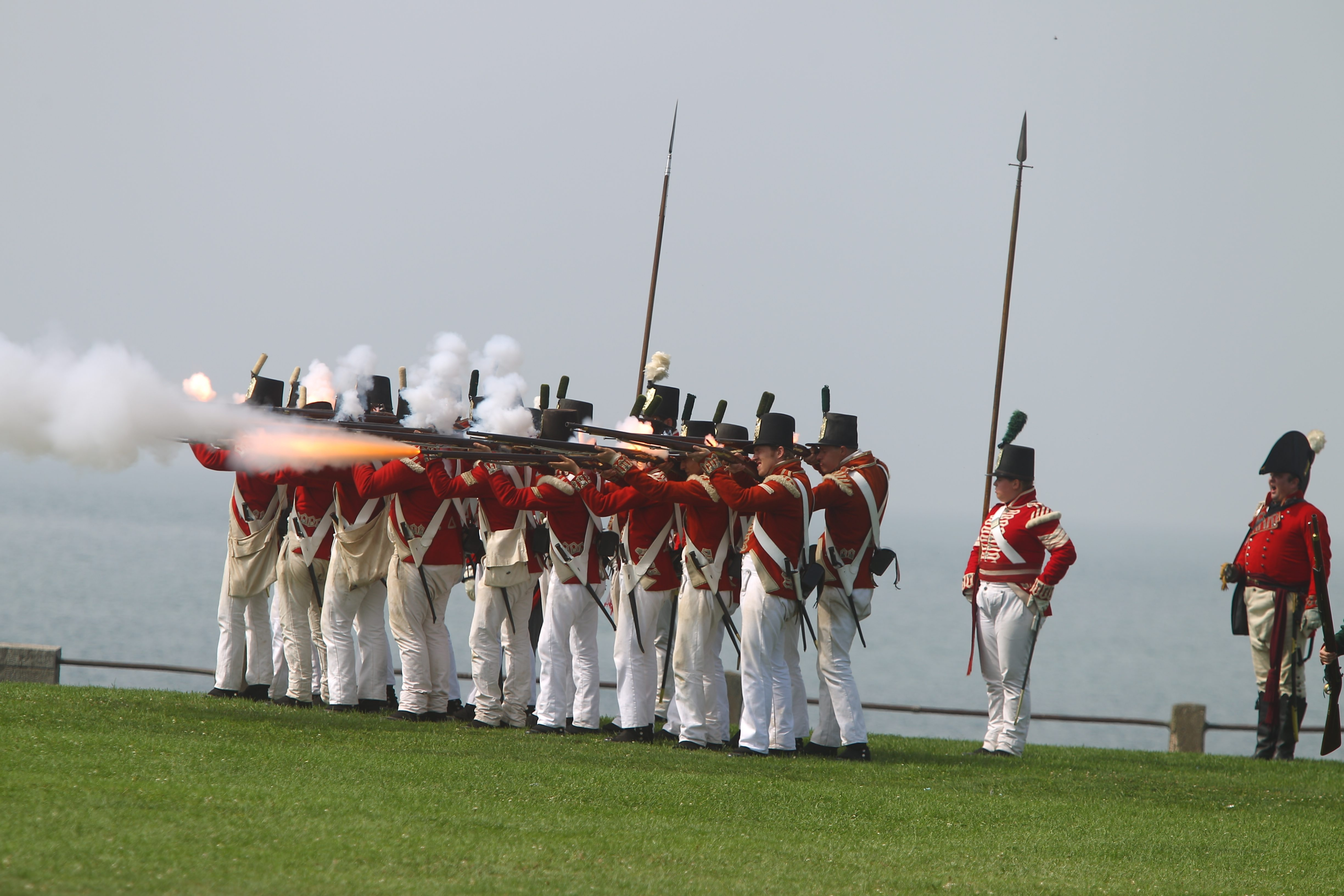 Patriots Weekend at Old Fort Niagara will give young people an opportunity to experience reenactments and fight a mock battle, as Redcoats or American militia.