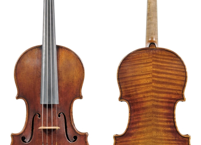 The 300-year-old Stradivarius violin was stolen last month in Milwaukee, Wis. (Associated Press)
